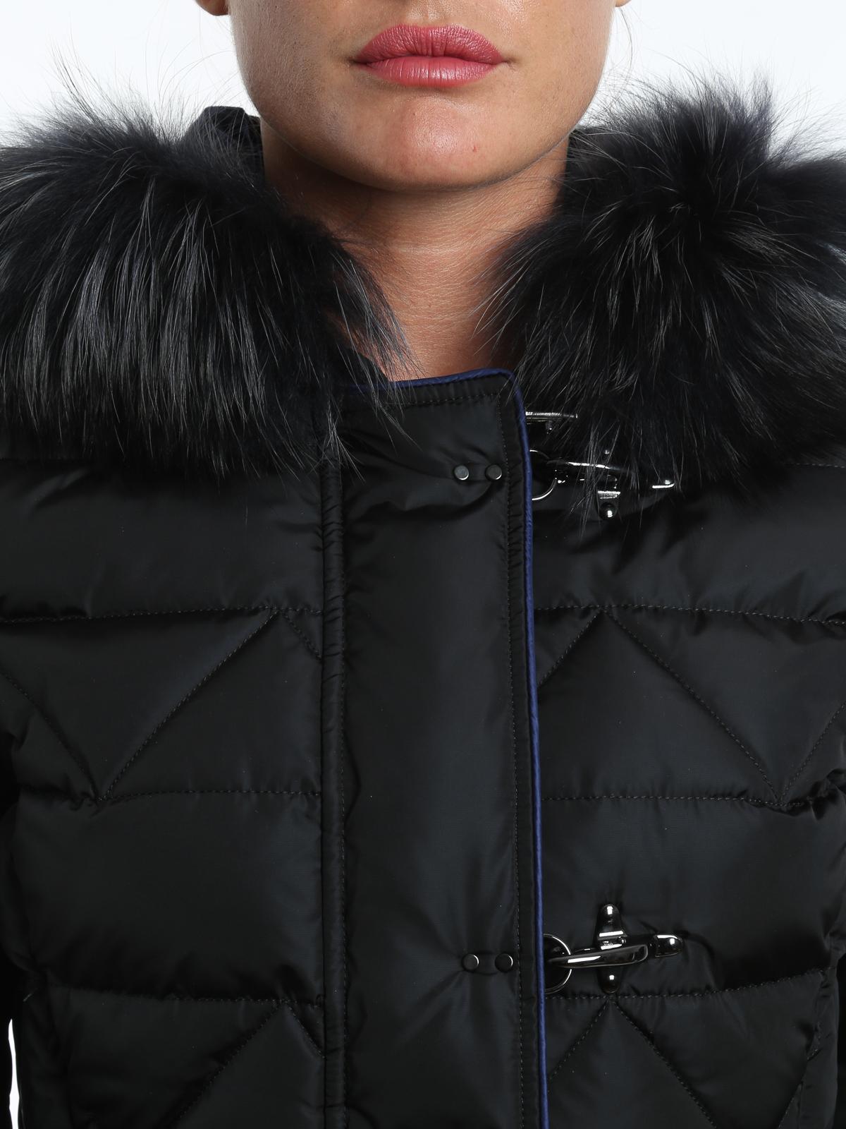 official photos a23a2 e8389 Fay - Piumino con pelliccia - giacche imbottite ...