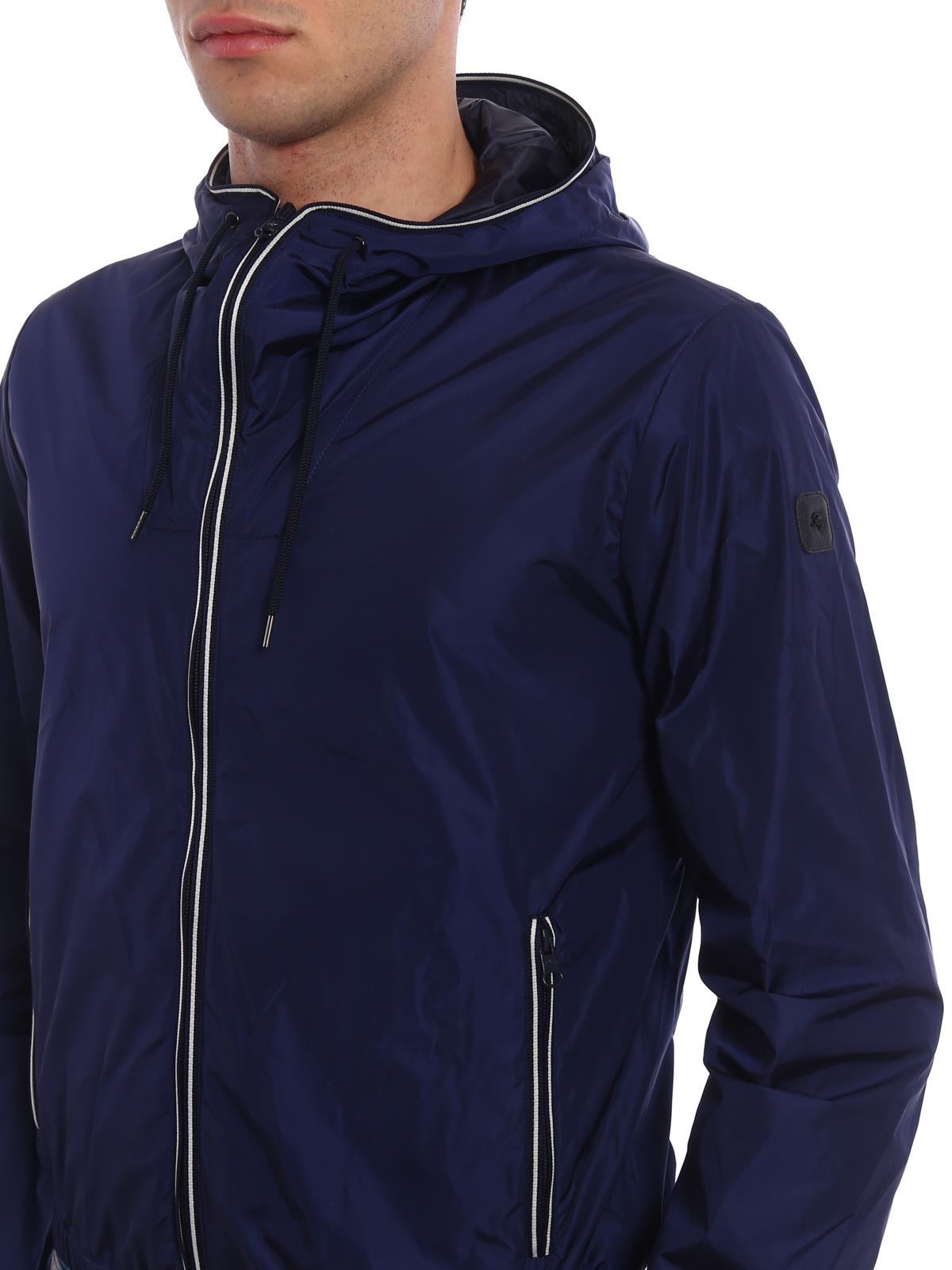 Fay Giacca impermeabile leggera blu giacche casual