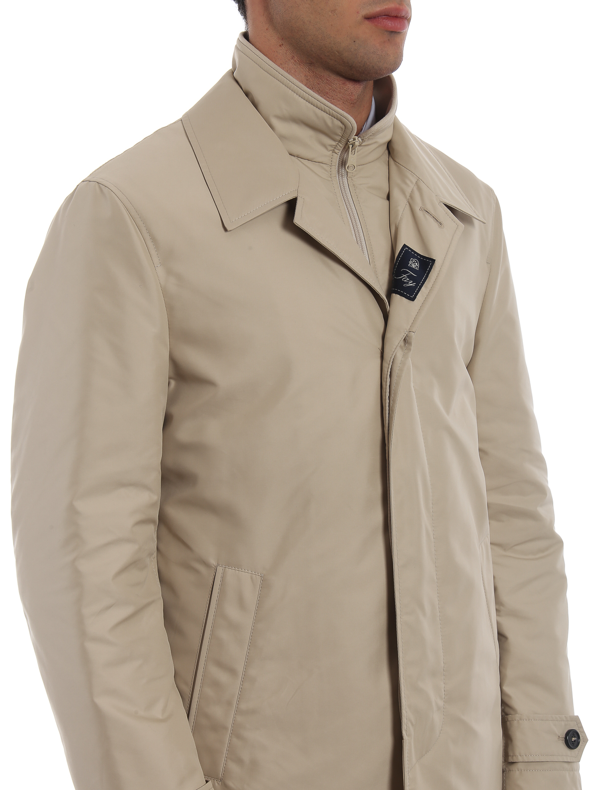 new products a7c59 f6241 Fay - Trench imbottito Morning beige - cappotti trench ...