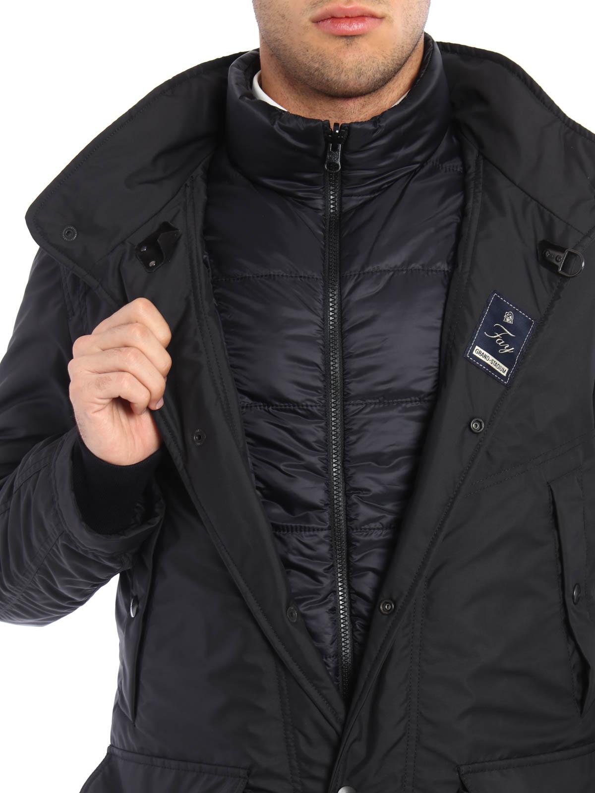 hot sale online 101dc f64a9 Fay - Nylon field jacket with waistcoat - padded jackets ...
