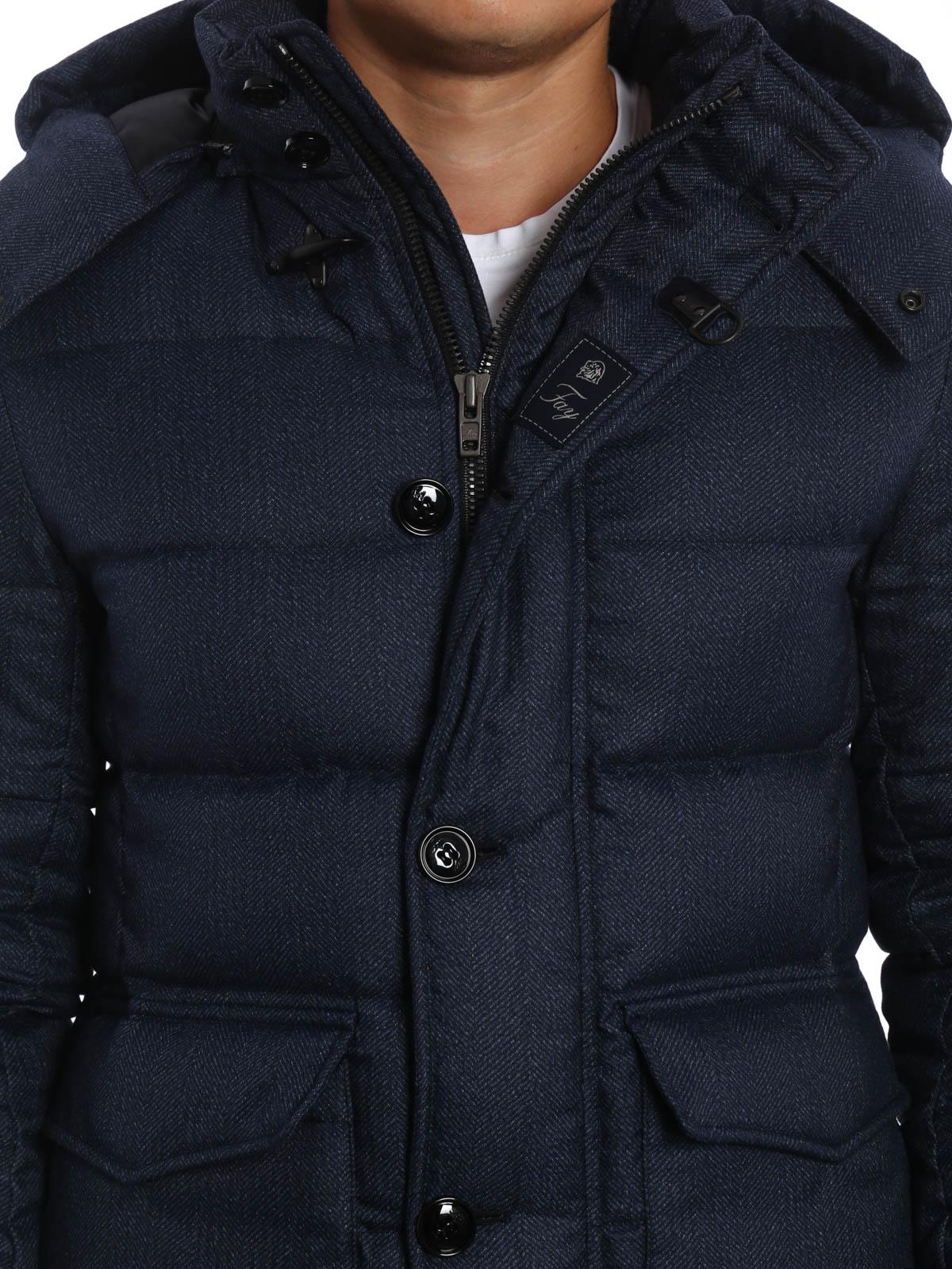 buy popular 8c55c 7a90b Fay - Piumino in tessuto tecnico spigato - giacche imbottite ...