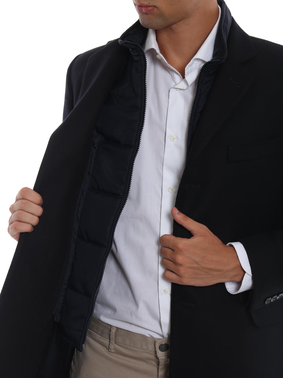 Fay - Cappotto dritto con gilet interno imbottito - cappotti corti ... 8ca82e3d210