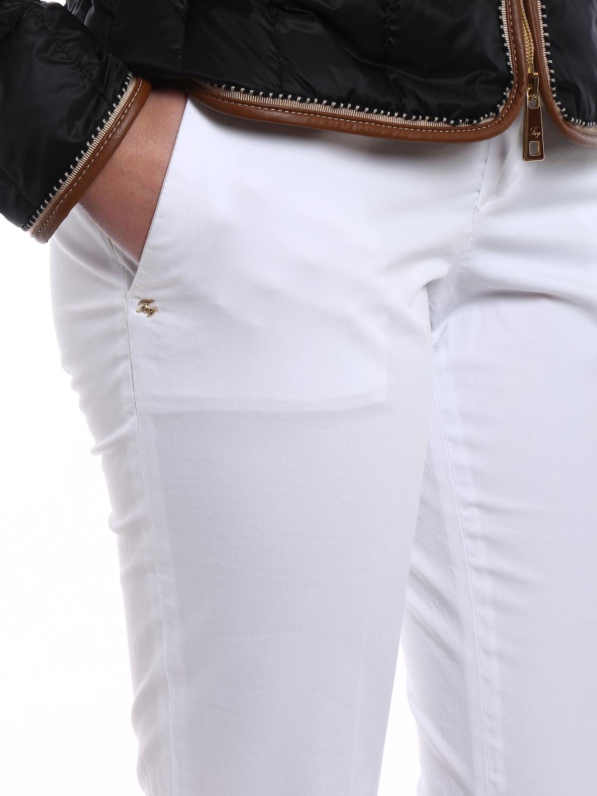 new styles 13334 68fd2 Fay - Chino bianchi con risvoltini - pantaloni casual ...