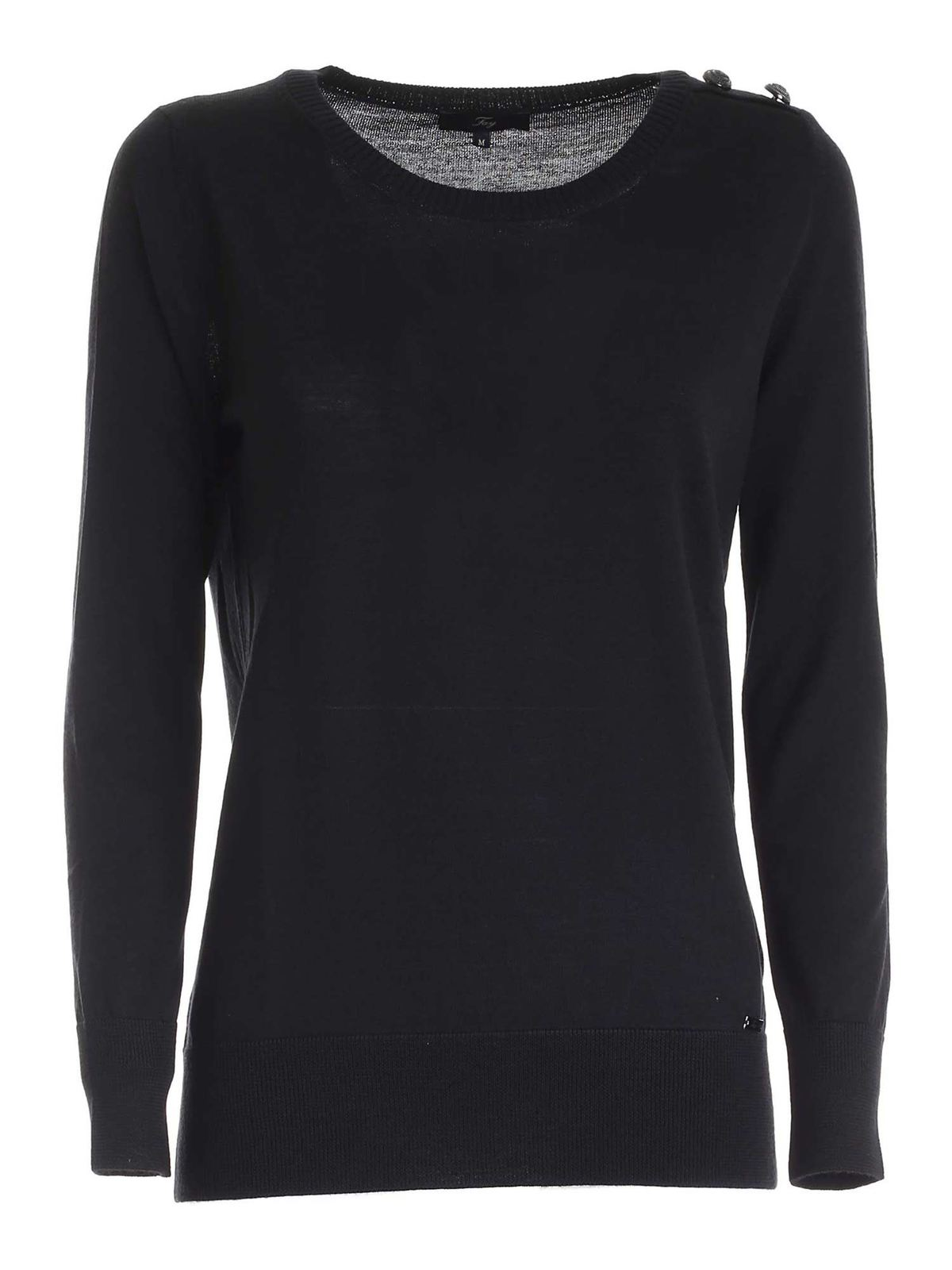 Fay BUTTONED SWEATER IN BLACK