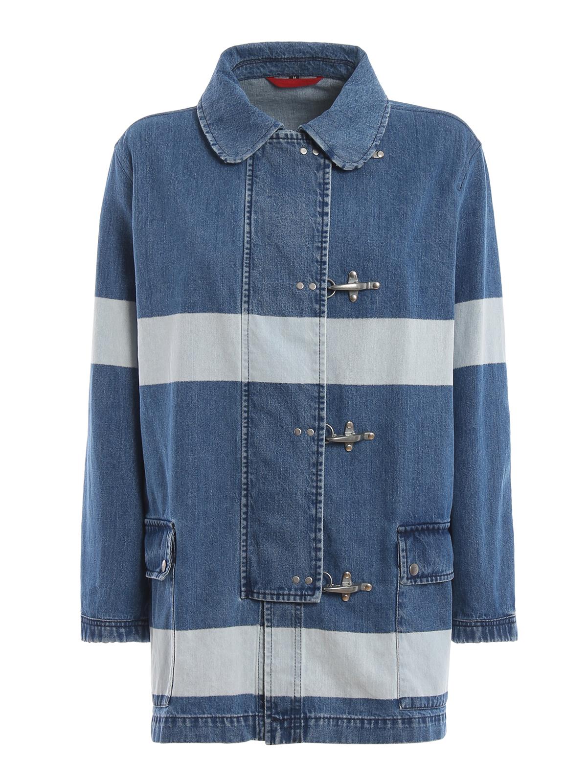 online store 62572 5c337 Fay - Giacca 4 Ganci in denim di cotone - giacche denim ...