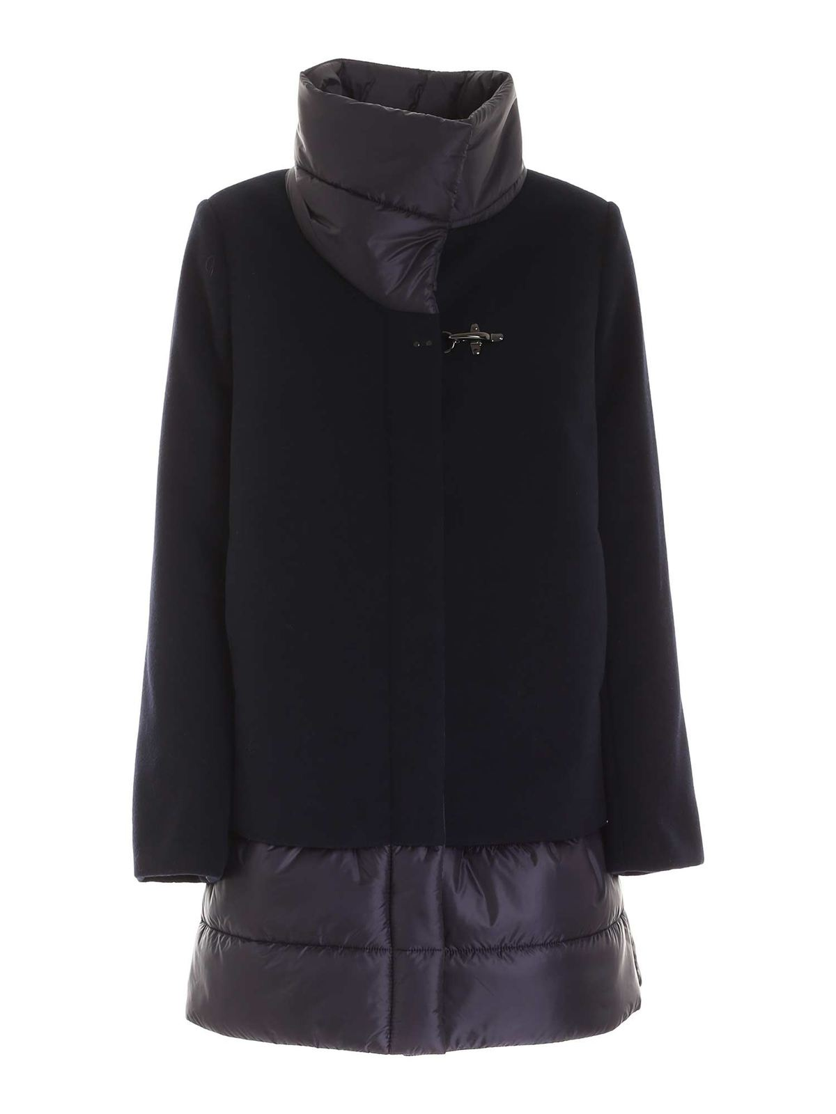 Fay SYNTHETIC PADDING COAT IN BLUE