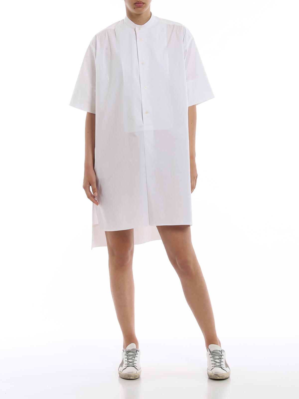 size 40 c9c75 9b838 Fay - Chemisier in cotone bianco - abiti al ginocchio ...