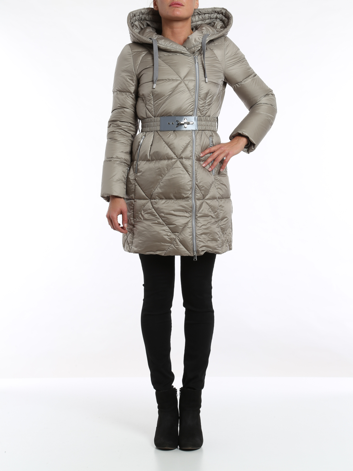 low priced c2b0c 8bf5e Fay - Belted padded coat - padded jackets - NAW3331432 0GOSS400