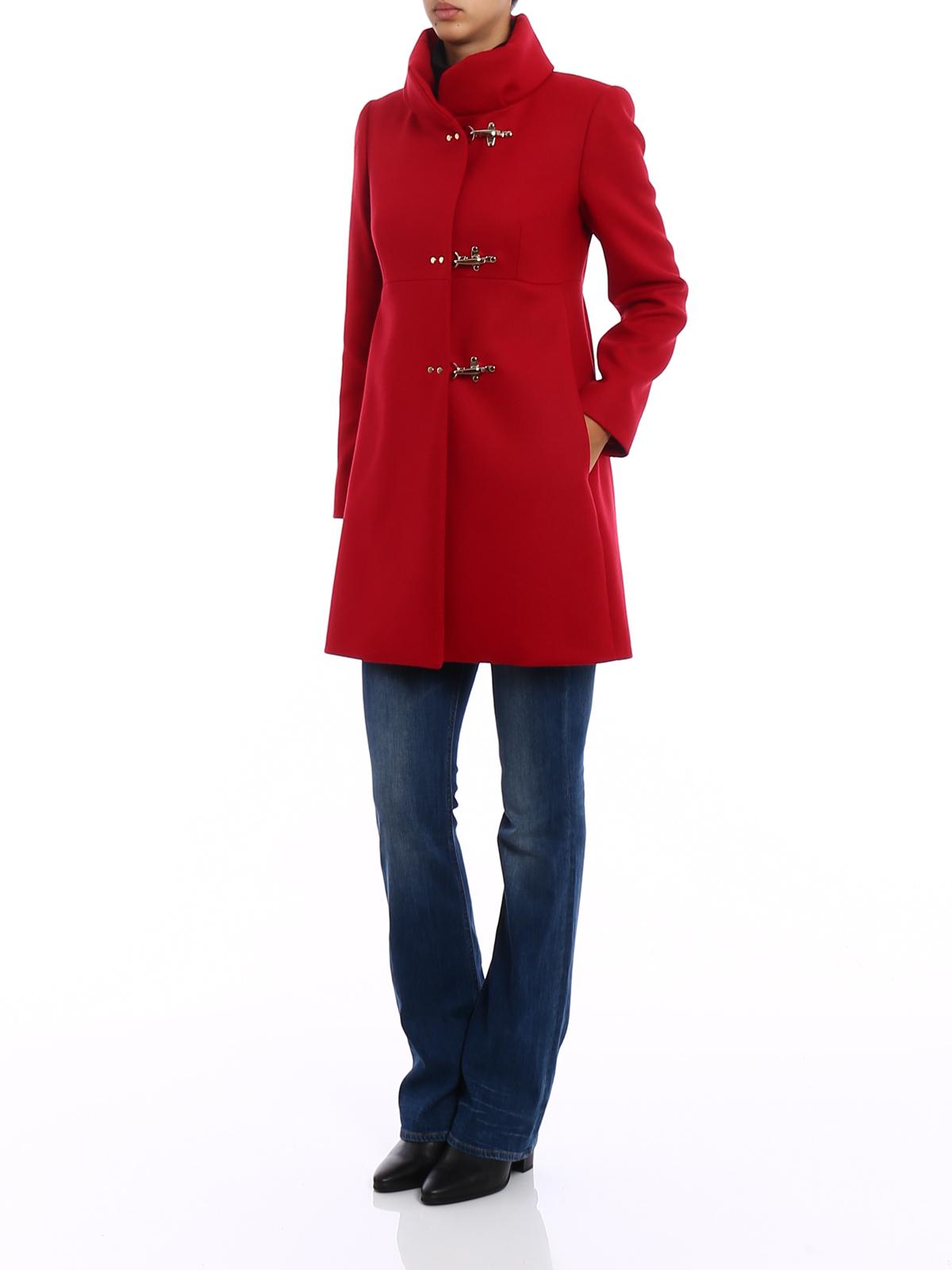 release date 3efb8 b3684 Fay - Cappotto Romantic in panno rosso - cappotti corti ...