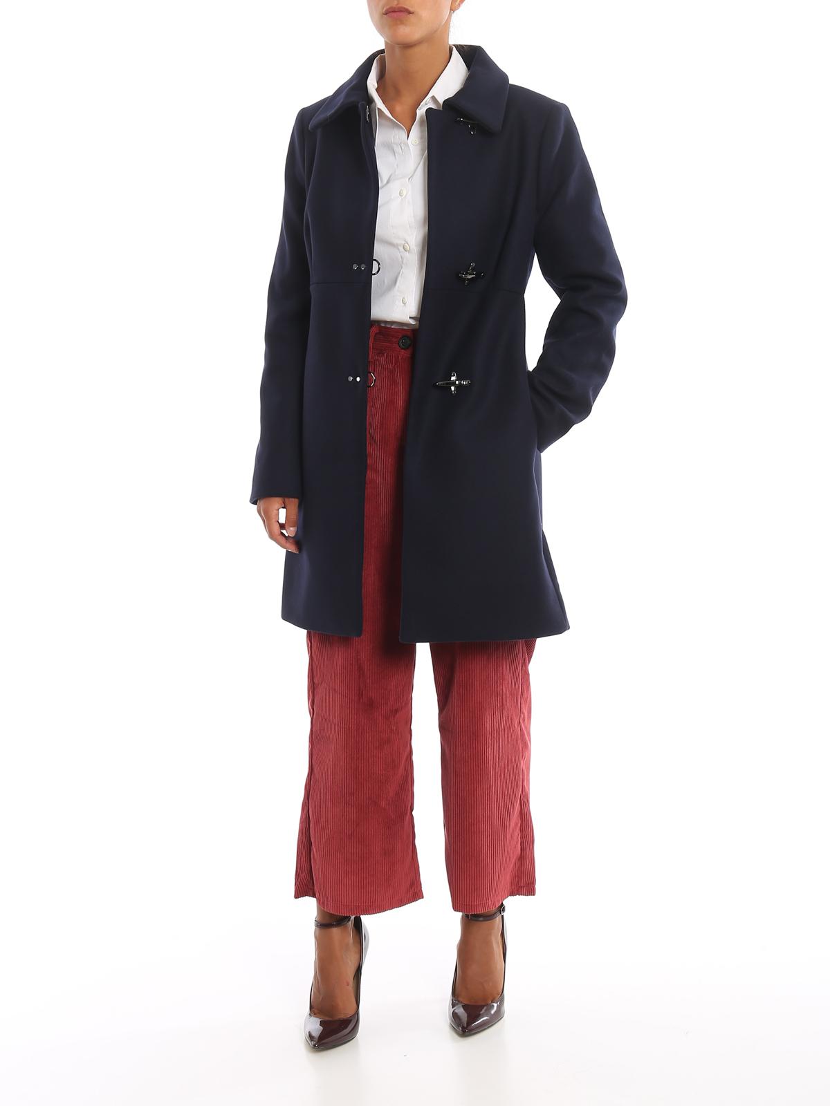 Fay Cappotto in panno di lana tre Ganci cappotti corti