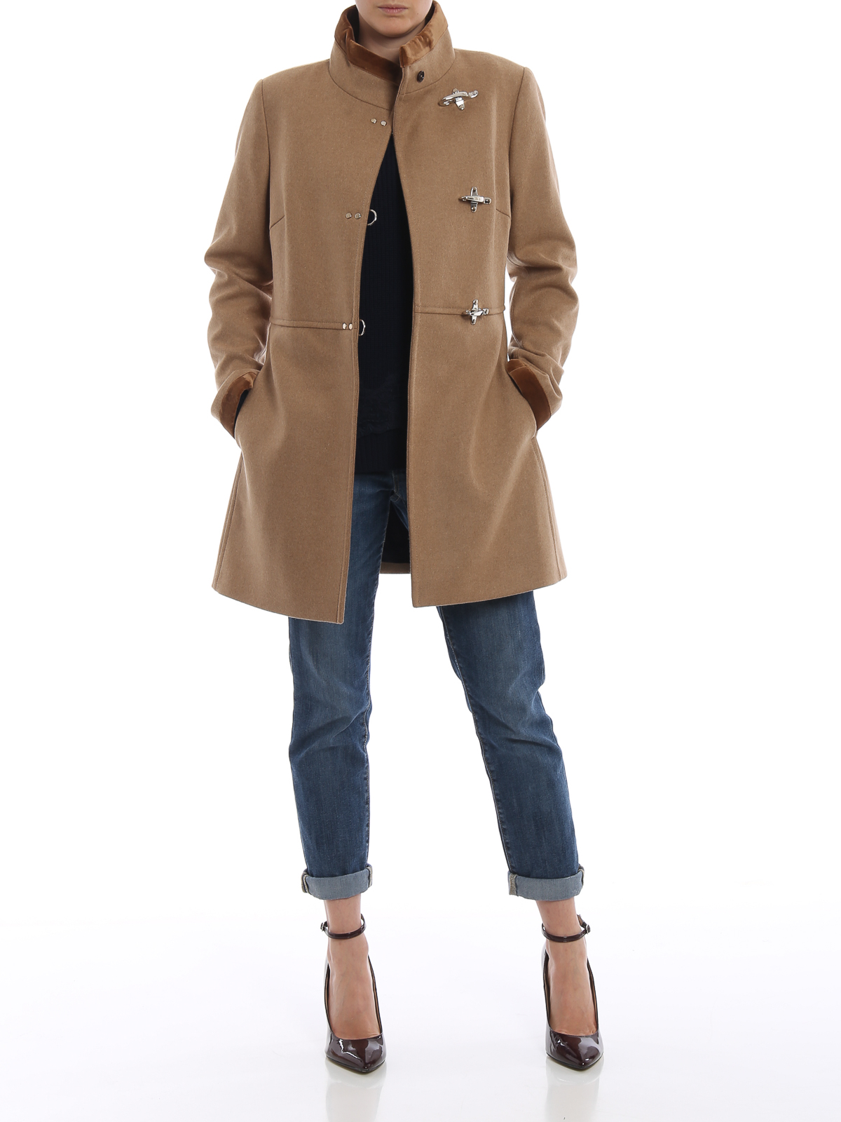 best sneakers 92b65 8b835 Fay - Cappotto Virginia in lana e cashmere cammello ...
