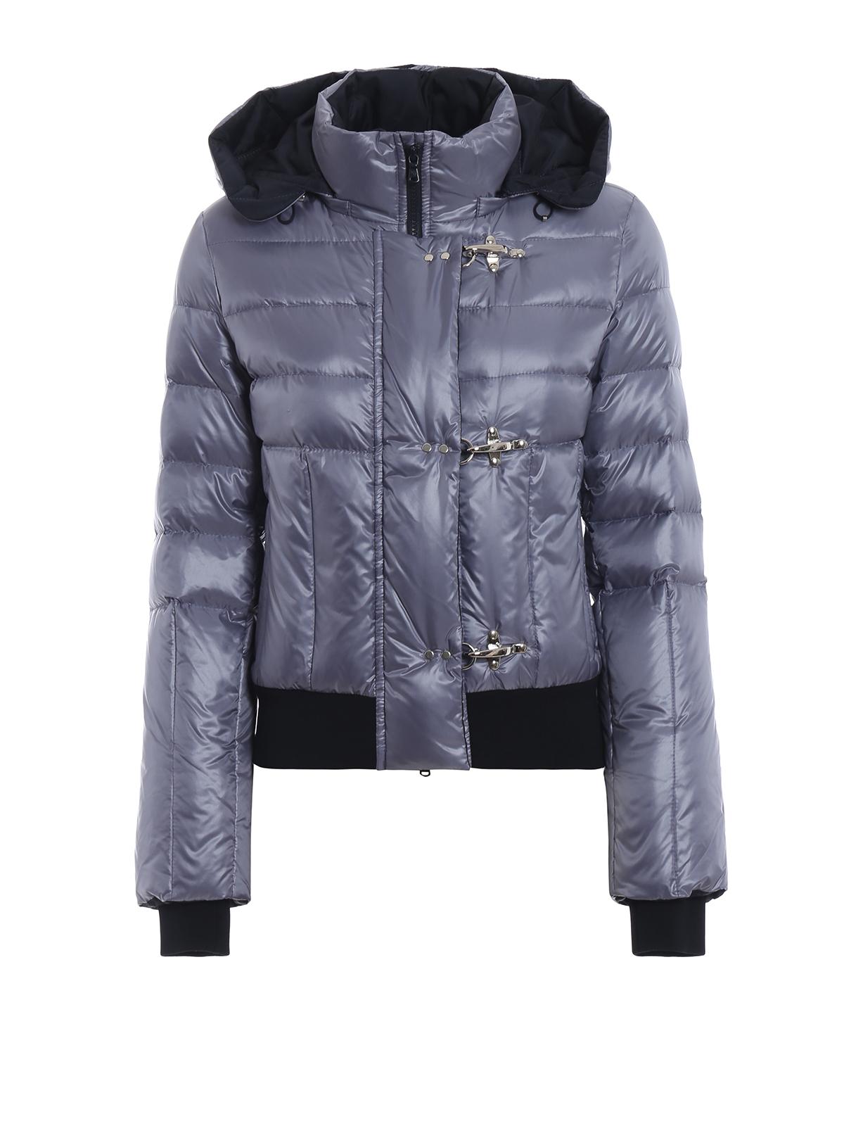 best loved cd619 9f951 Fay - Piumino corto in nylon azzurro metallizzato - giacche ...