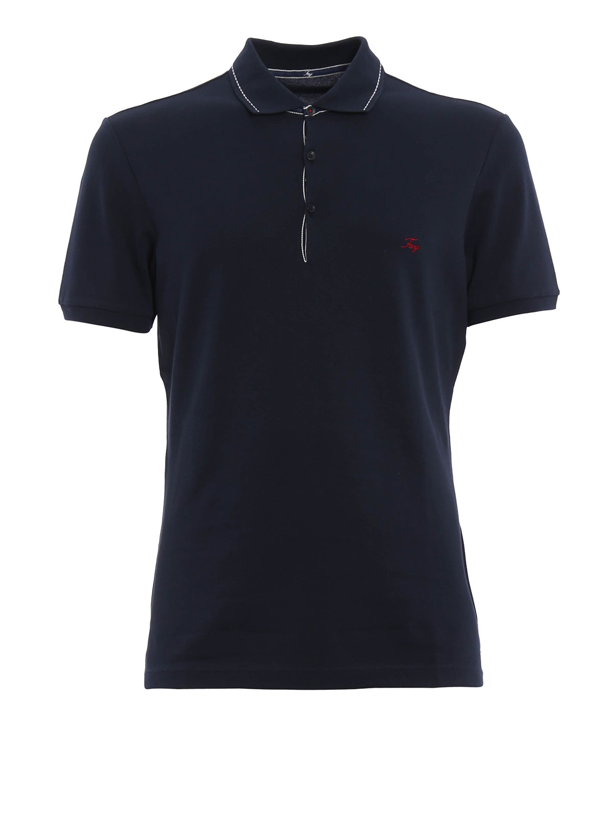 Cotton Pique Polo Shirt By Fay Polo Shirts Ikrix