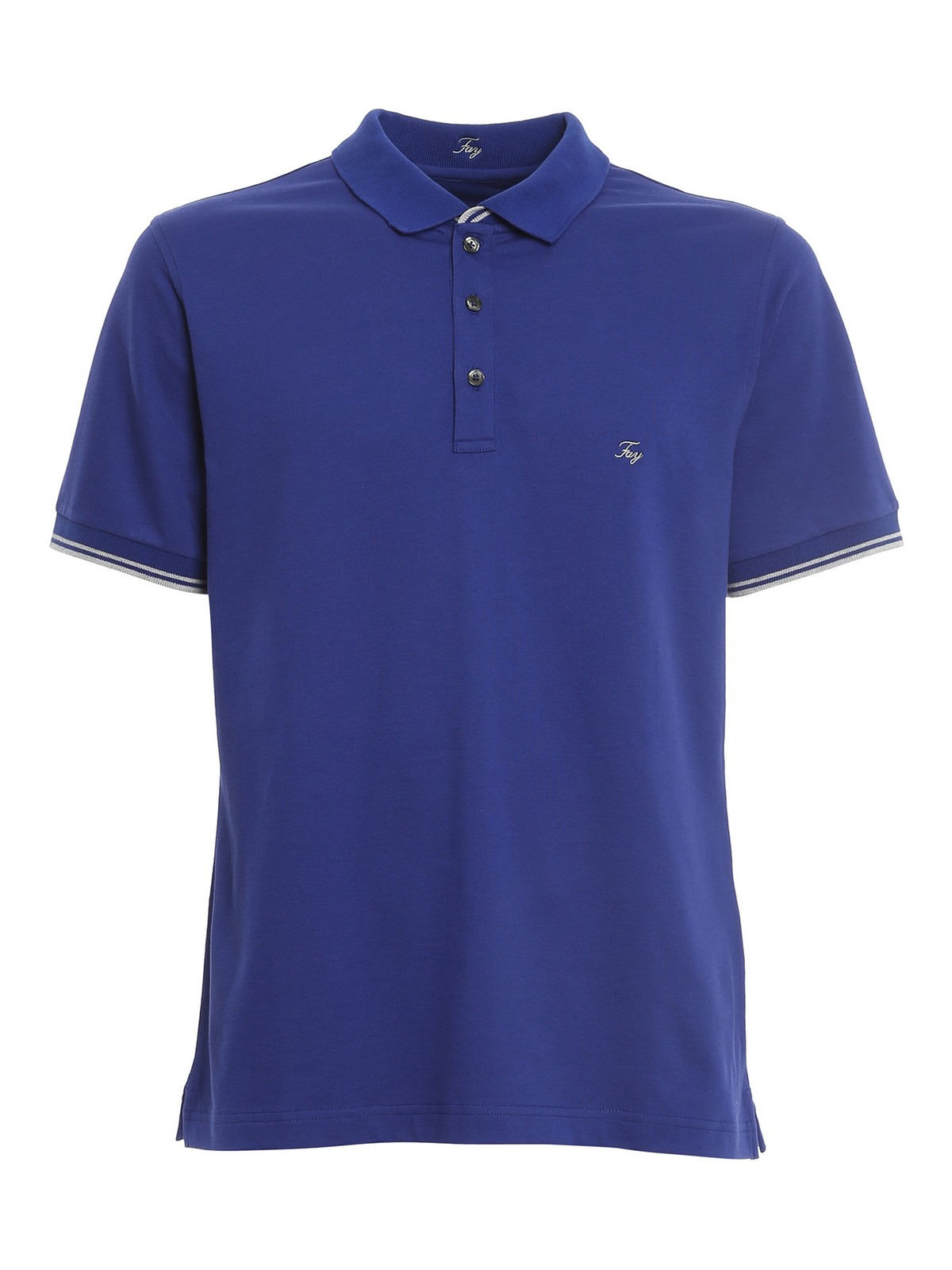 Fay LOGO LETTERING EMBROIDERY POLO