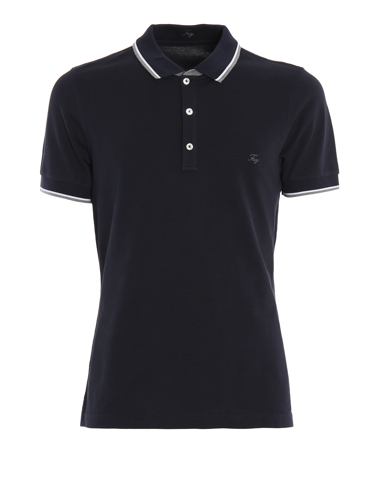 Stitched logo pique polo by fay polo shirts ikrix for Polo shirts with logos