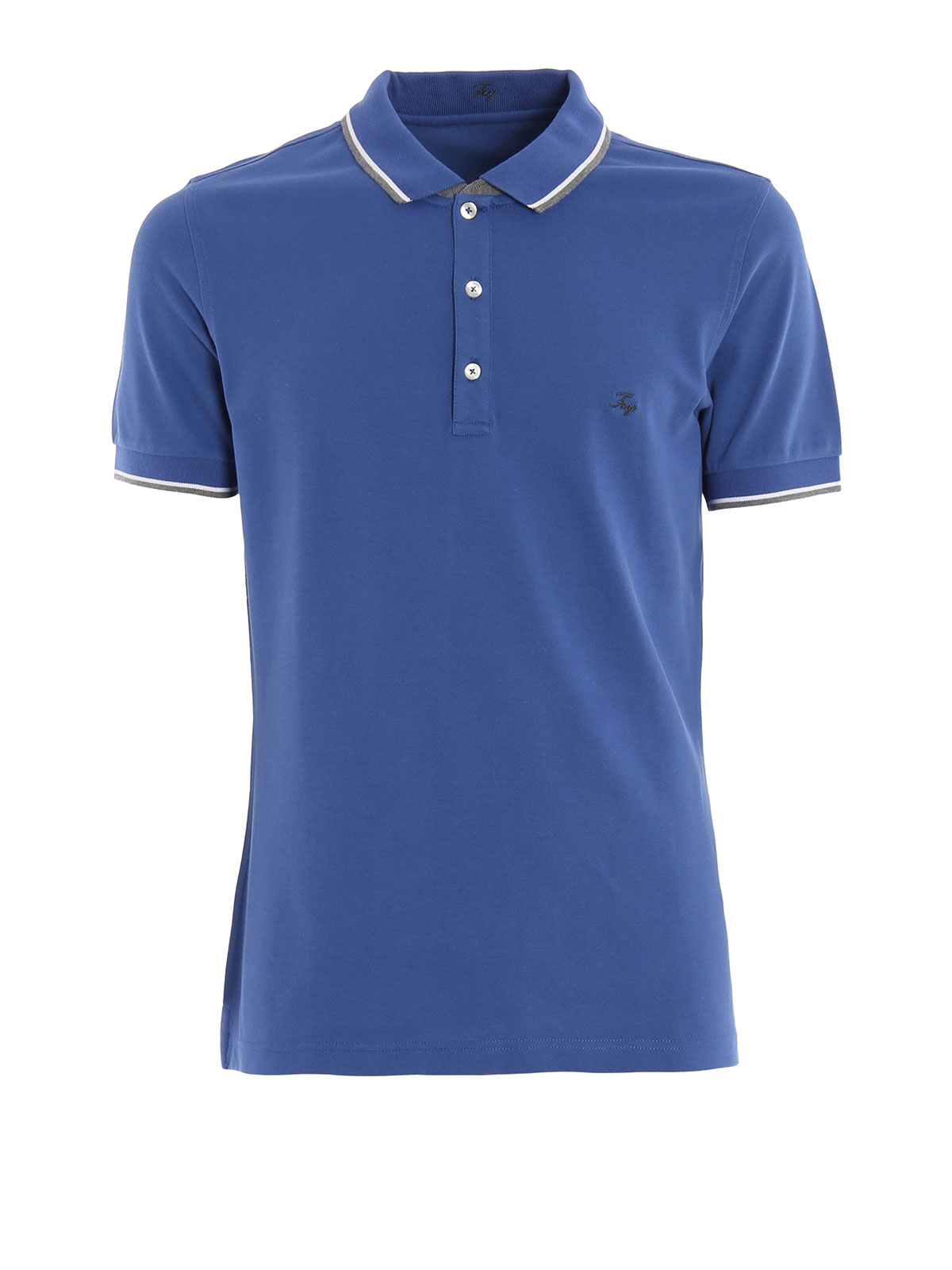 Polo piqu logo ricamato fay polo ikrix for Polo shirts with logos