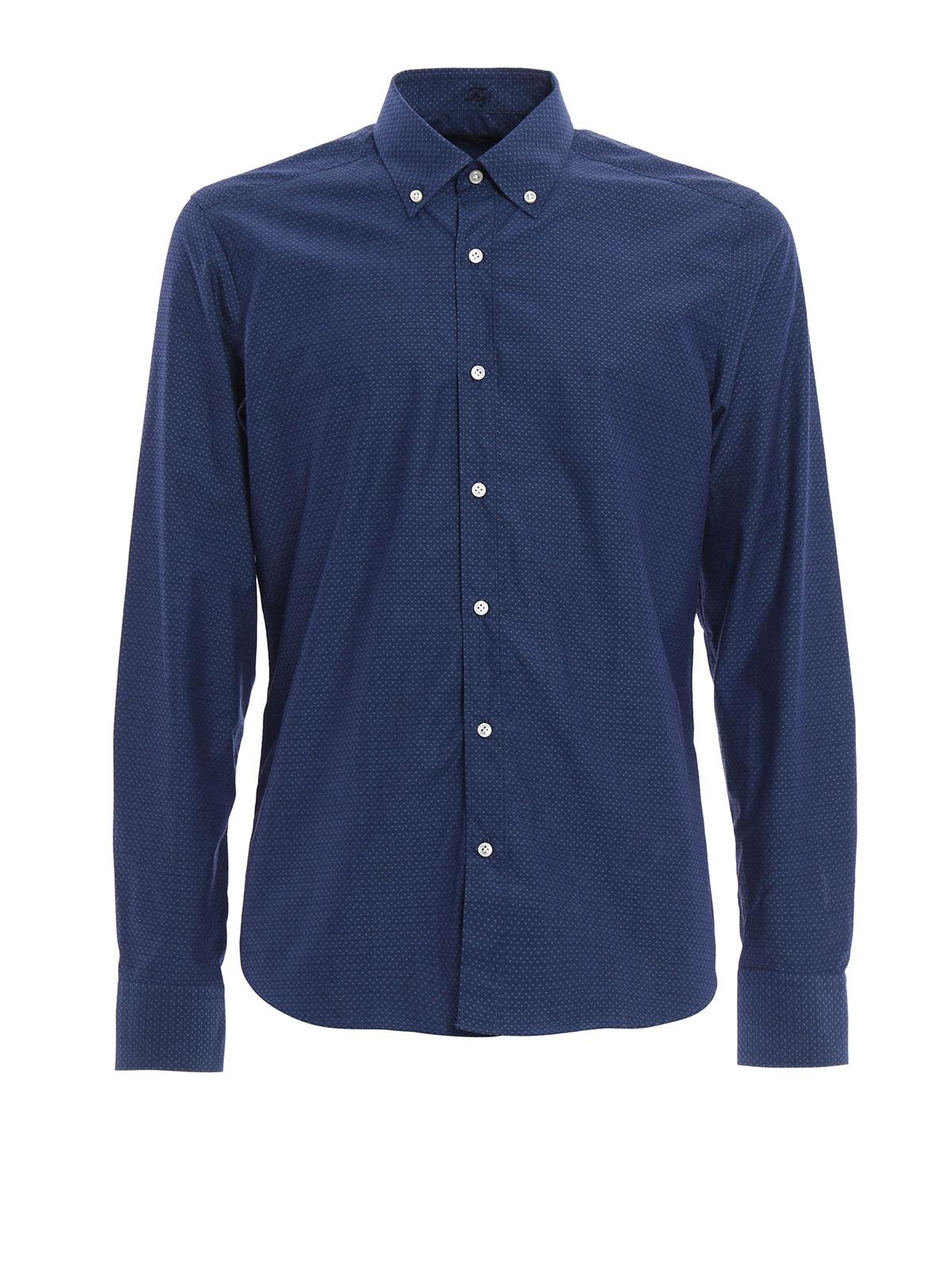 Button Down Cotton Shirt By Fay Shirts Ikrix