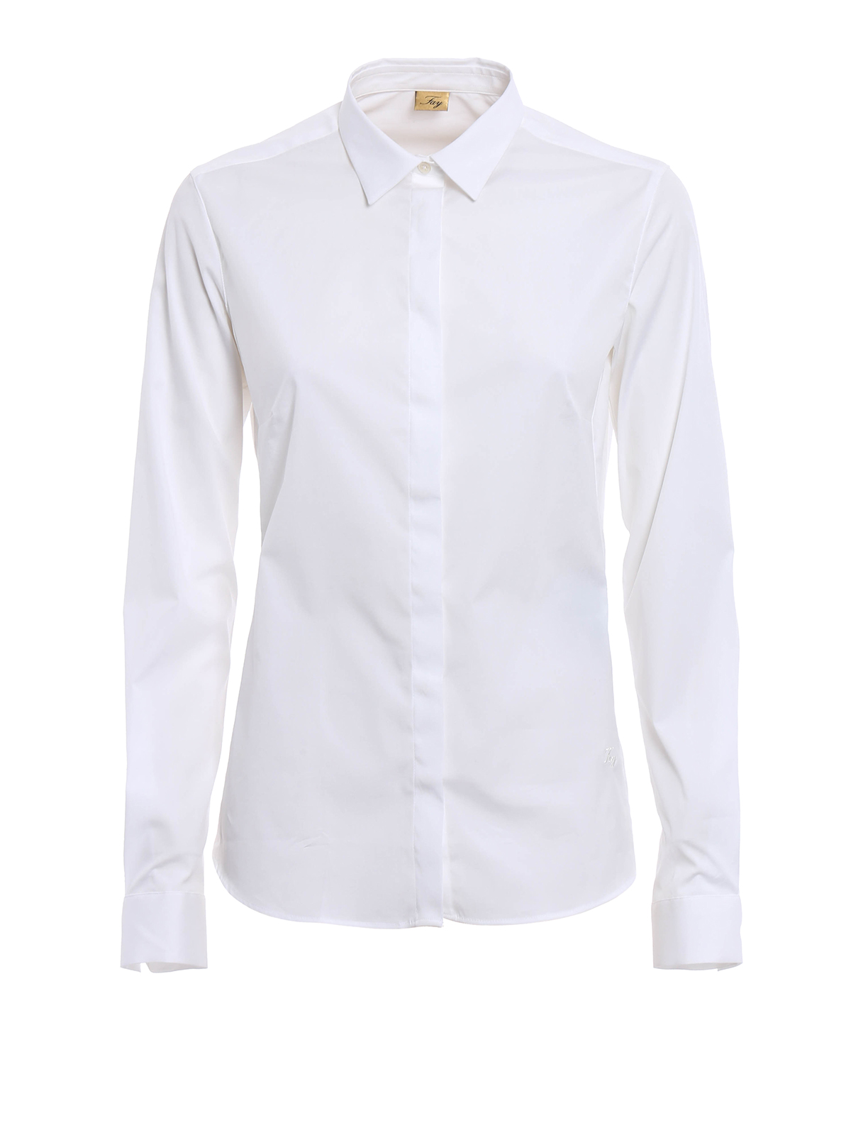 Classic cotton poplin shirt by fay shirts shop online for What is a poplin shirt