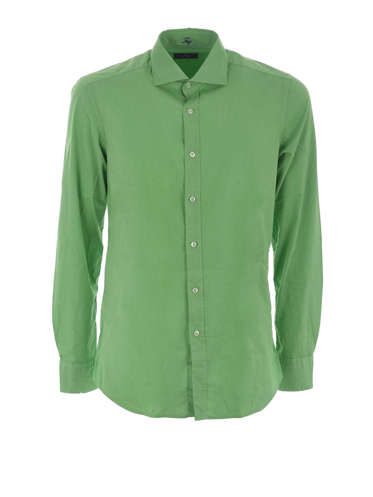 Stretch poplin cotton shirt by fay shirts ikrix for What is a poplin shirt