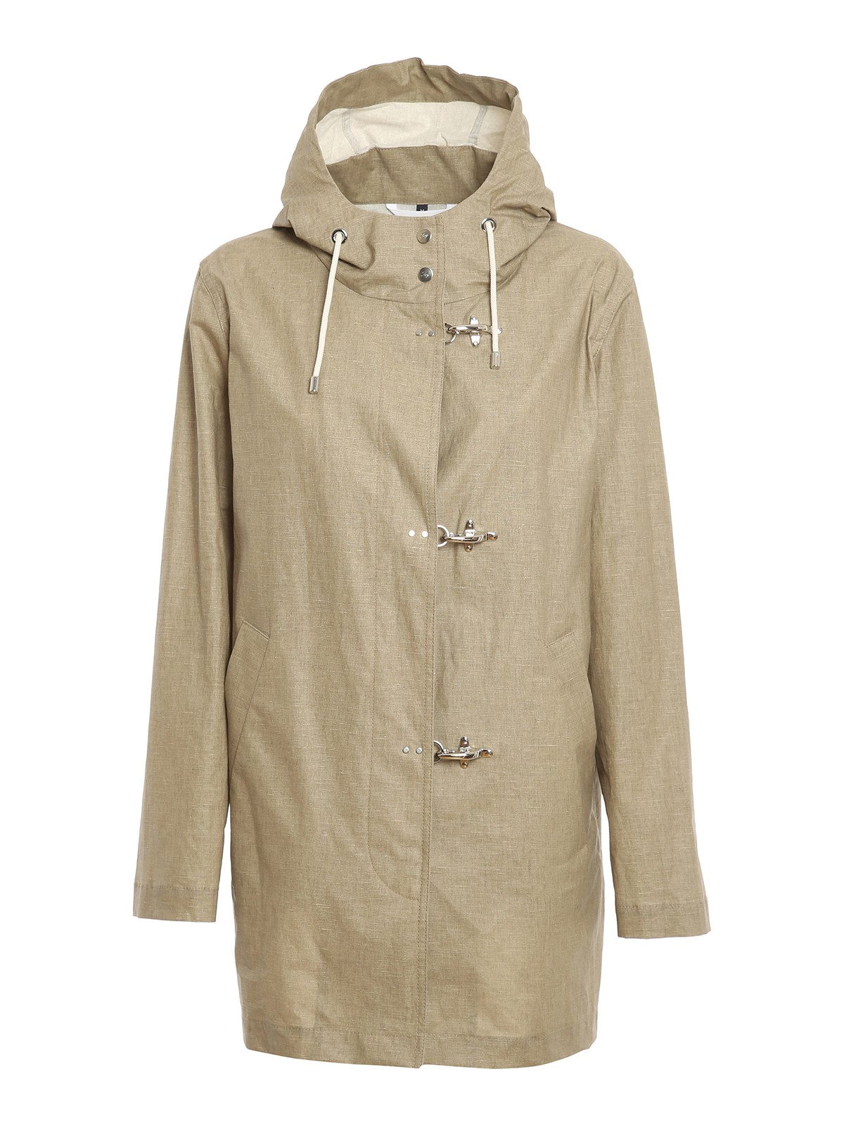 Fay Linens RESIN COTTON LINEN BLEND COAT