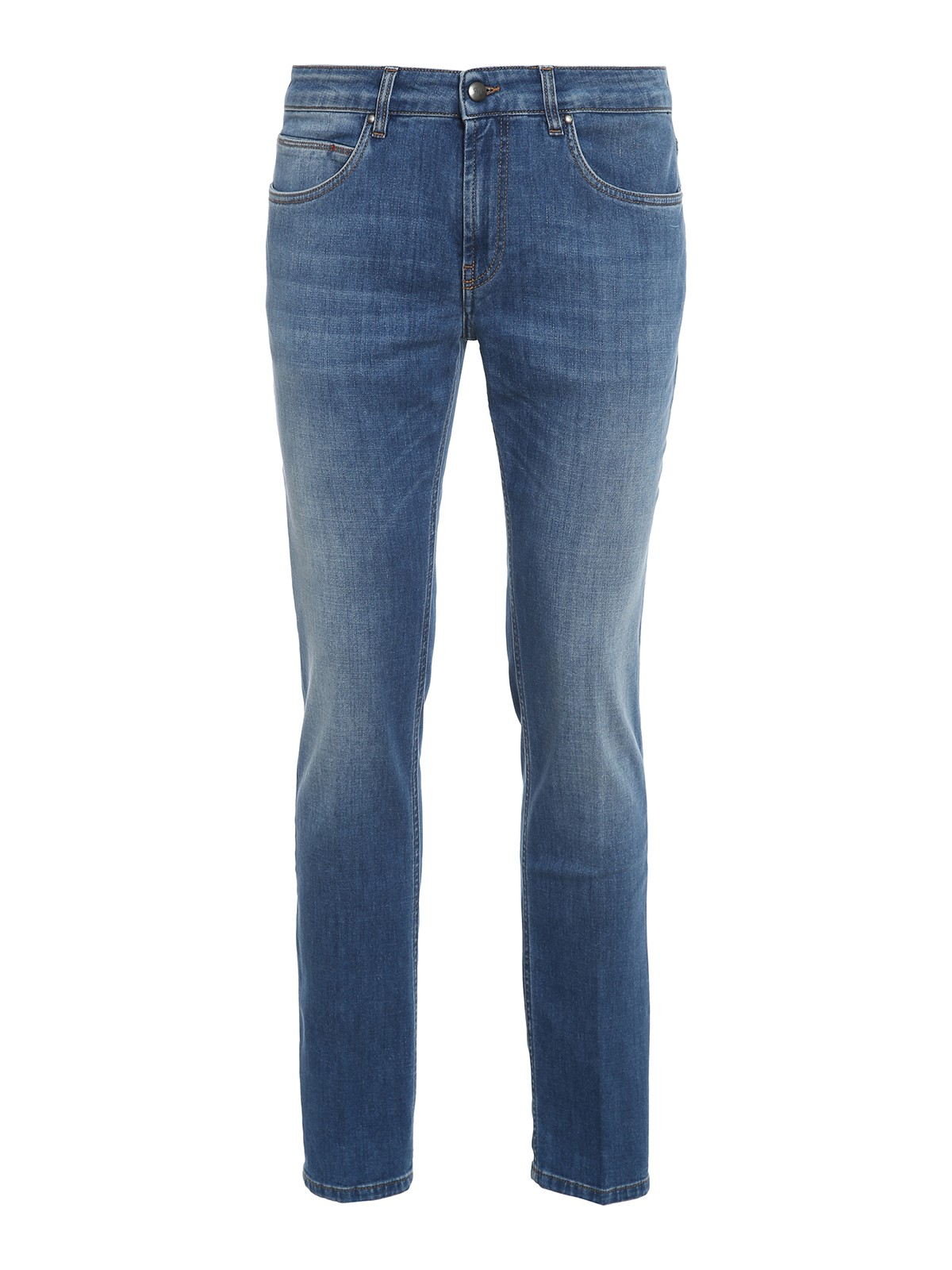 Fay COTTON BLEND STRAIGHT LEG JEANS