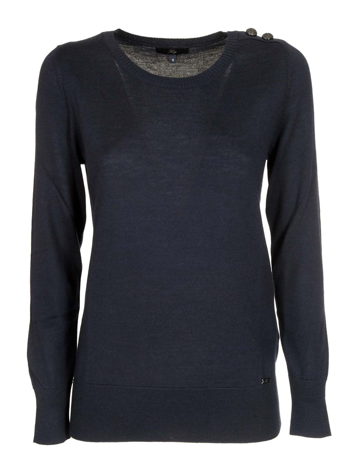 Fay BUTTONED SWEATER IN BLUE