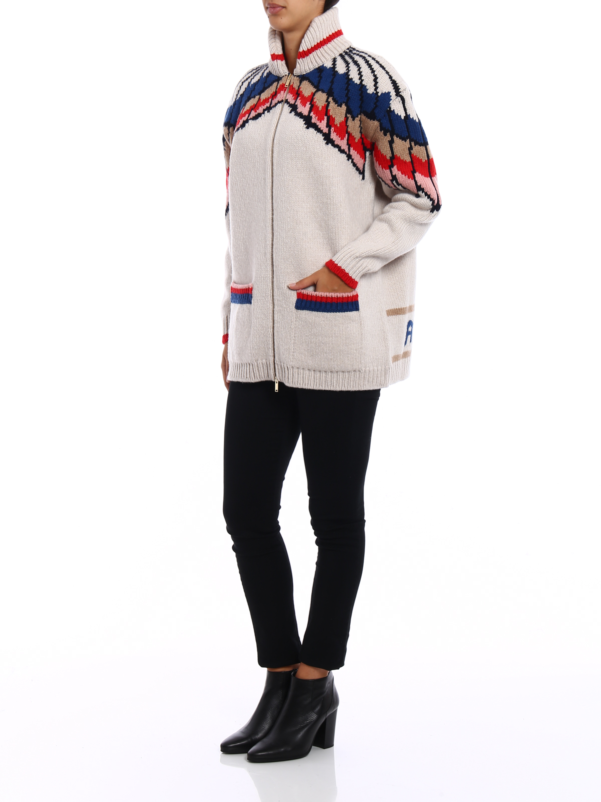 Feathers intarsia wool cardigan by Stella Mccartney - cardigans ...