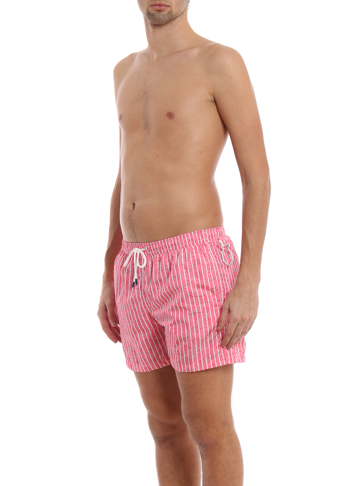 a5157c699e FEDELI: Swim shorts & swimming trunks online - Red and white striped swim  shorts
