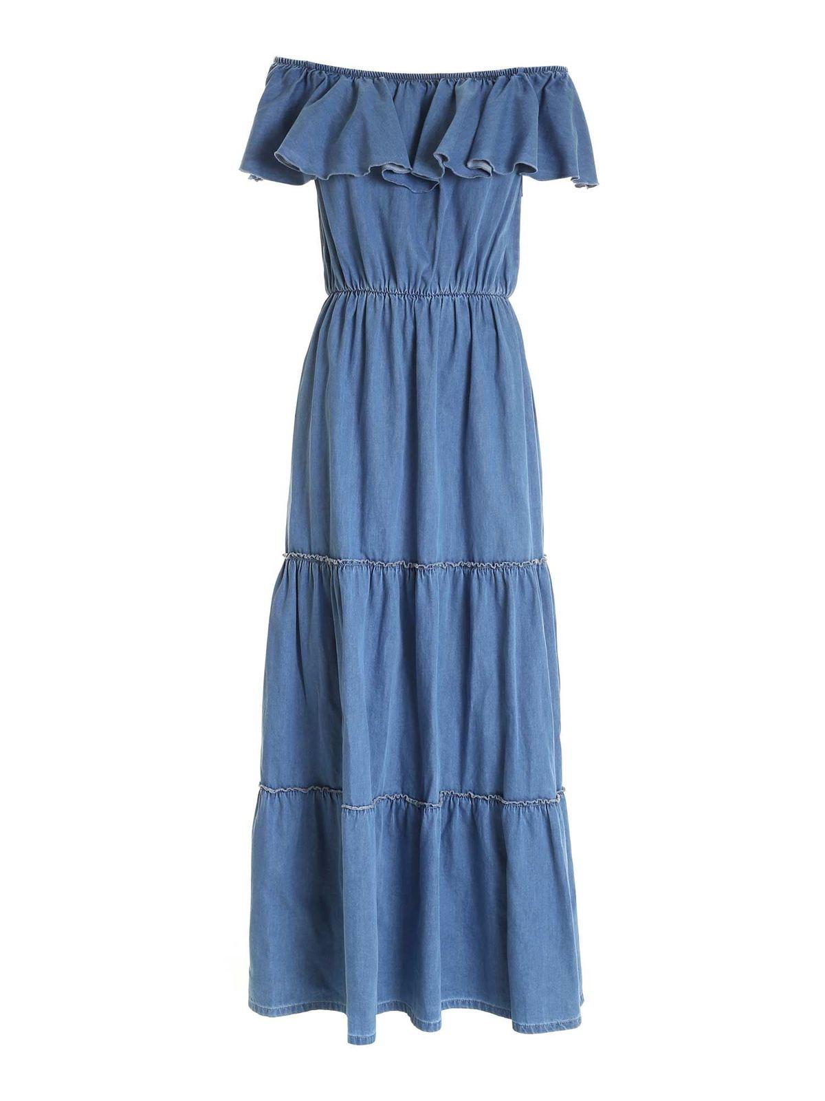 Federica Tosi Dresses FLOUNCES DRESS IN LIGHT BLUE
