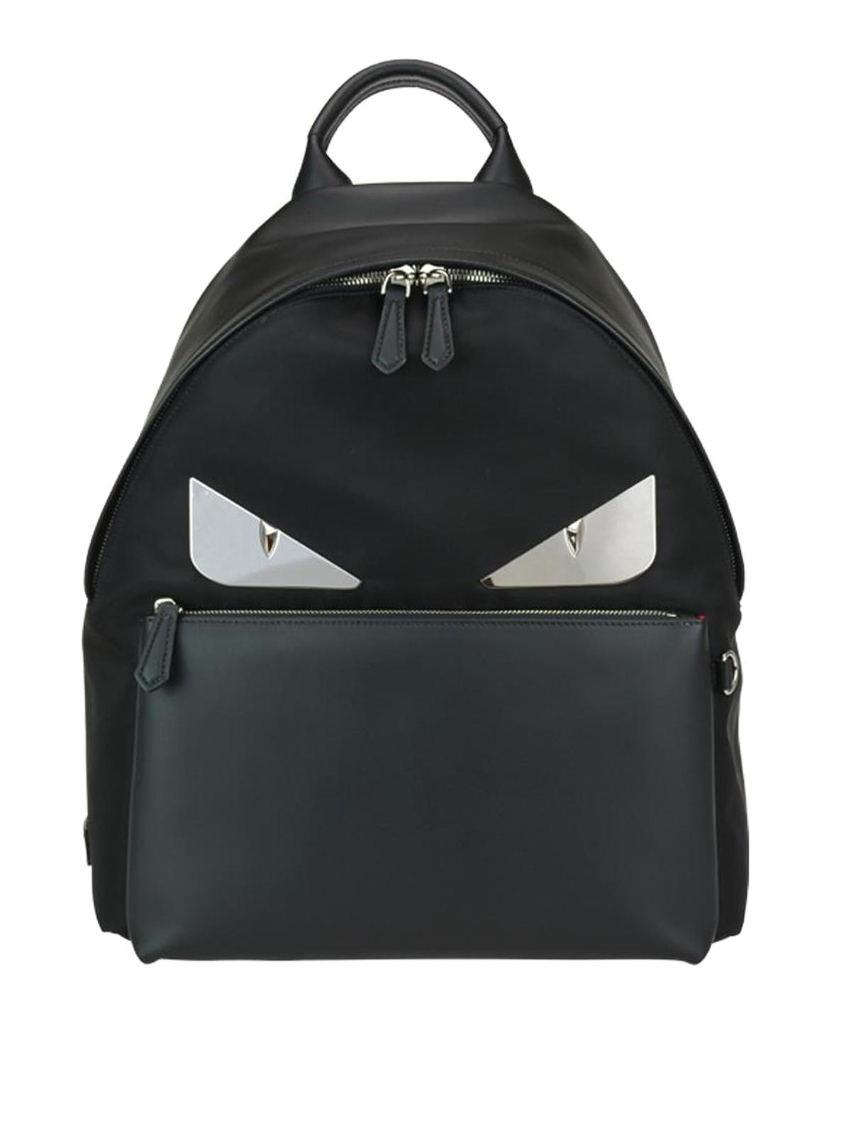 Fendi - Bag Bugs nylon and leather backpack - backpacks ... 528d5453962e4