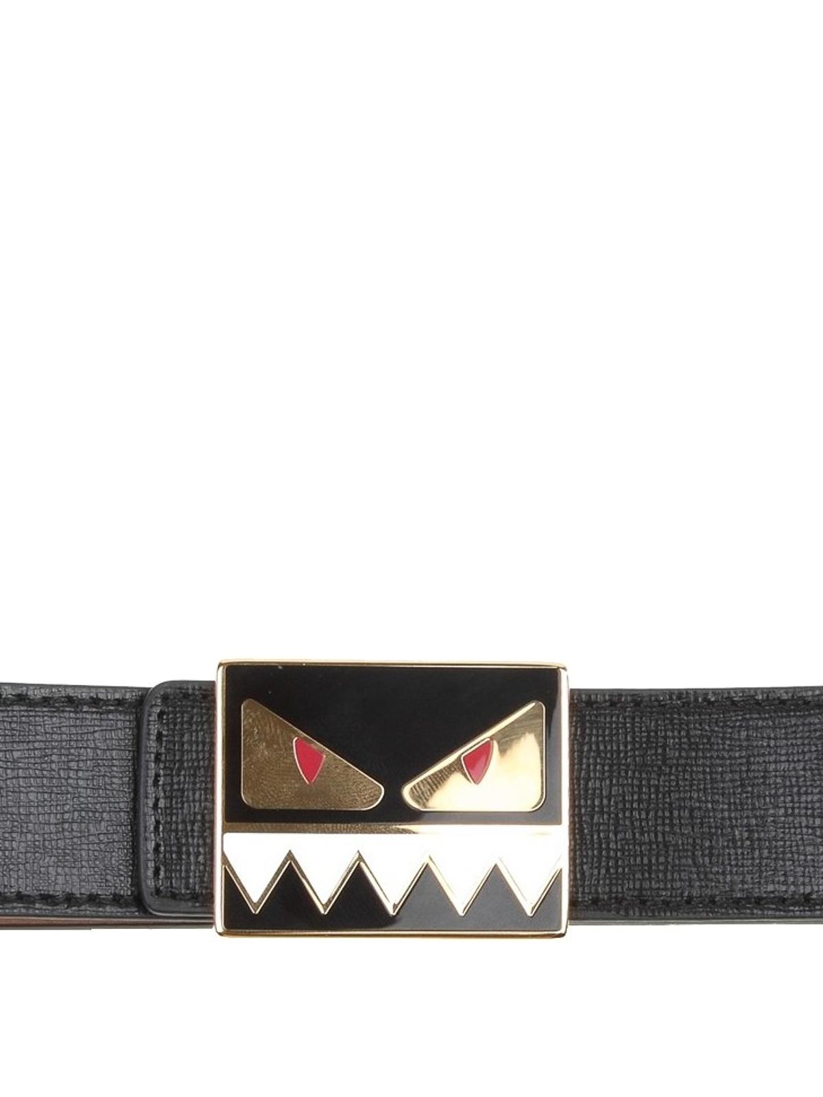 1877e6bfad Fendi - Bag Bugs buckle black leather belt - belts - 8C0559F09F0KUR