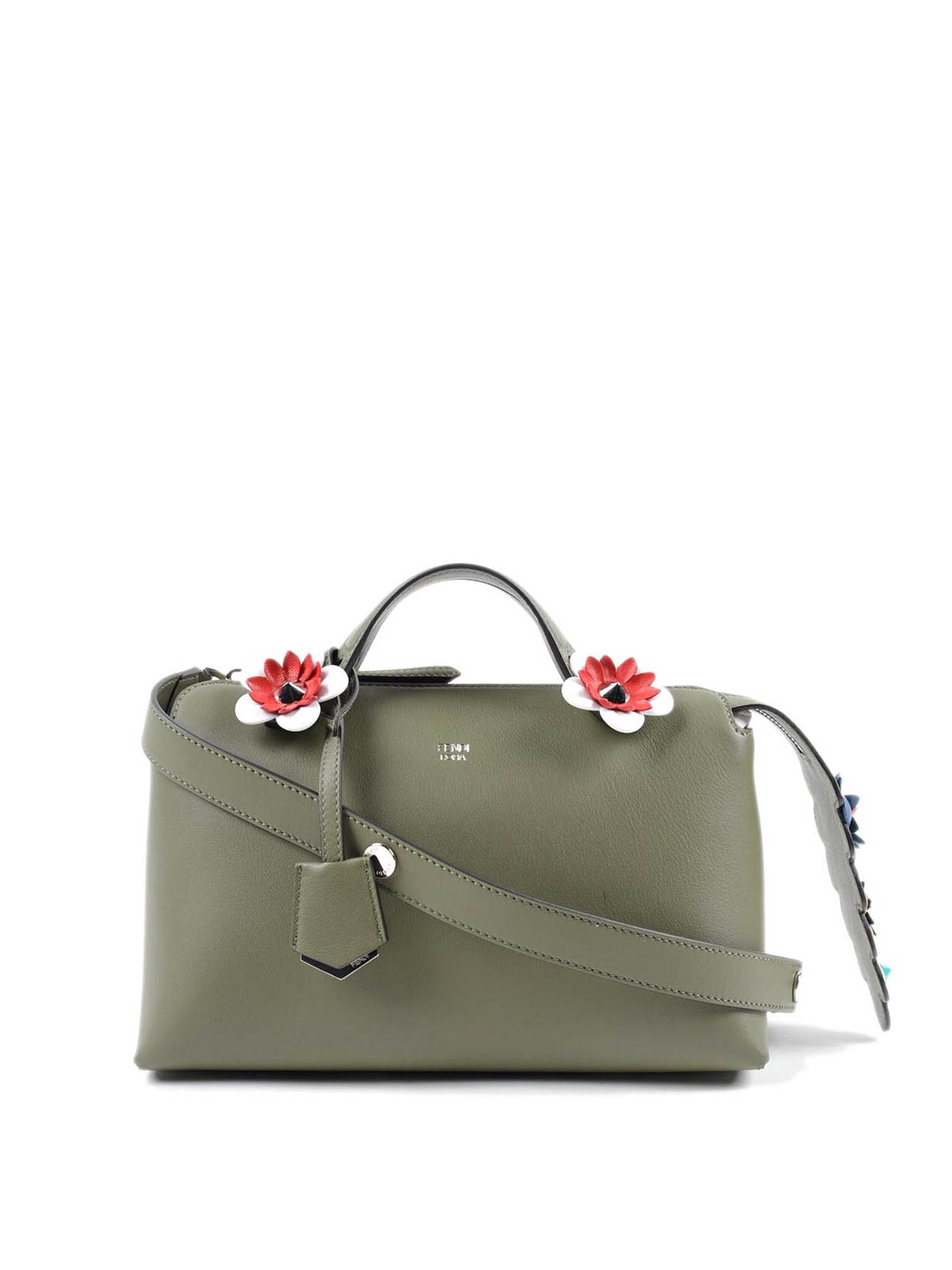 8e309c24e4 Fendi - By The Way small bag with flowers - bowling bags - 8BL124 ...