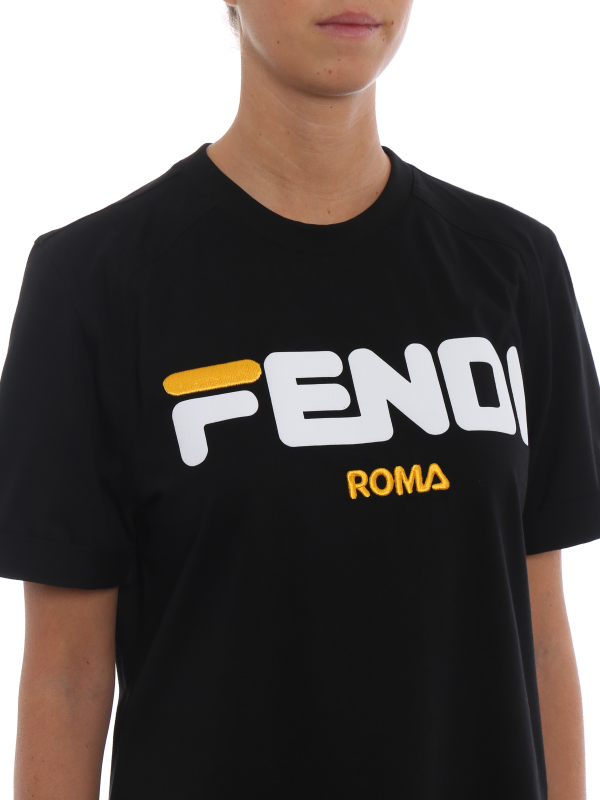 9bd9cdd36 Fendi - Fila and Fendi collaboration cotton T-shirt - t-shirts ...