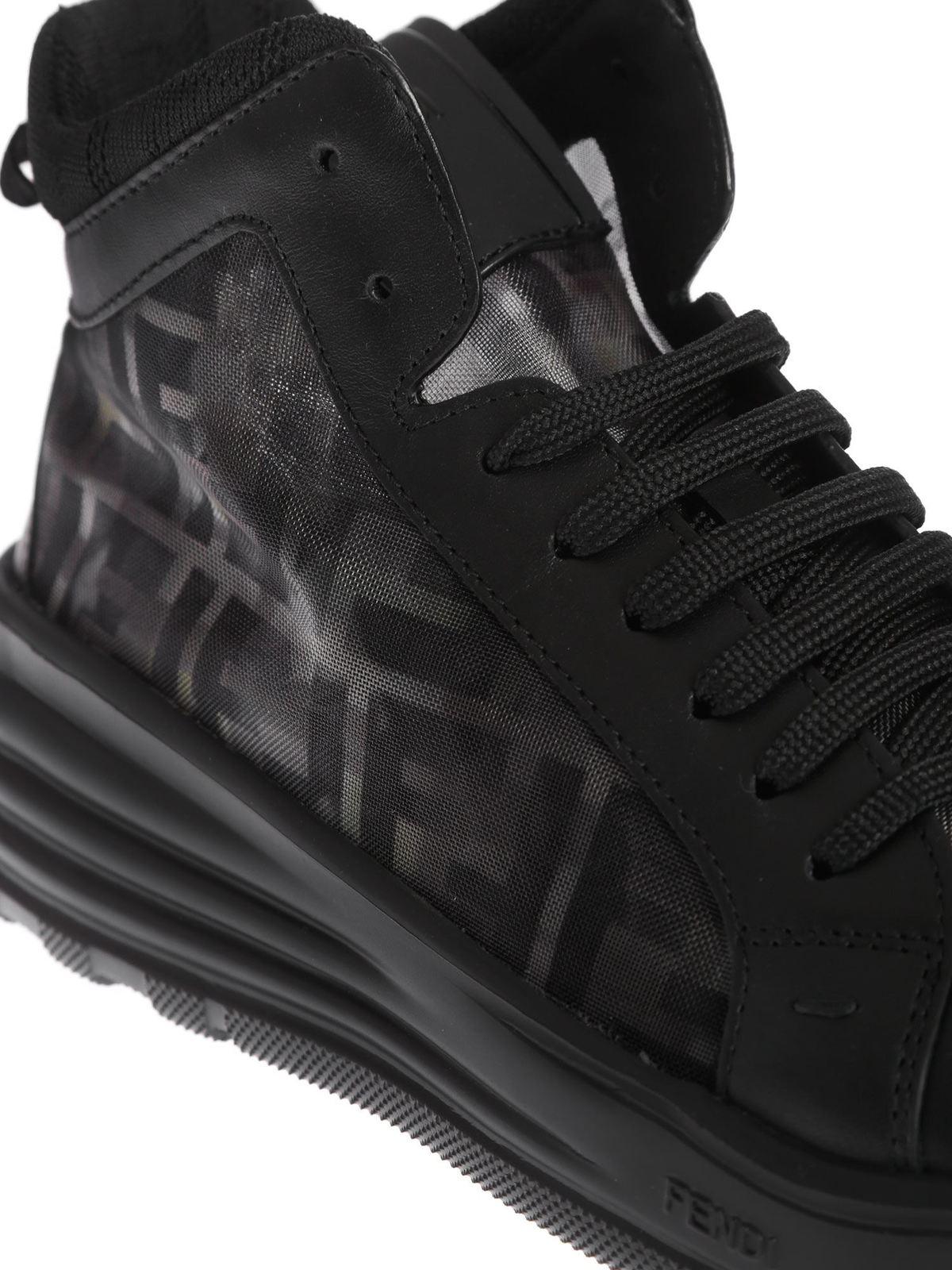 Fendi - High top sneakers in black with