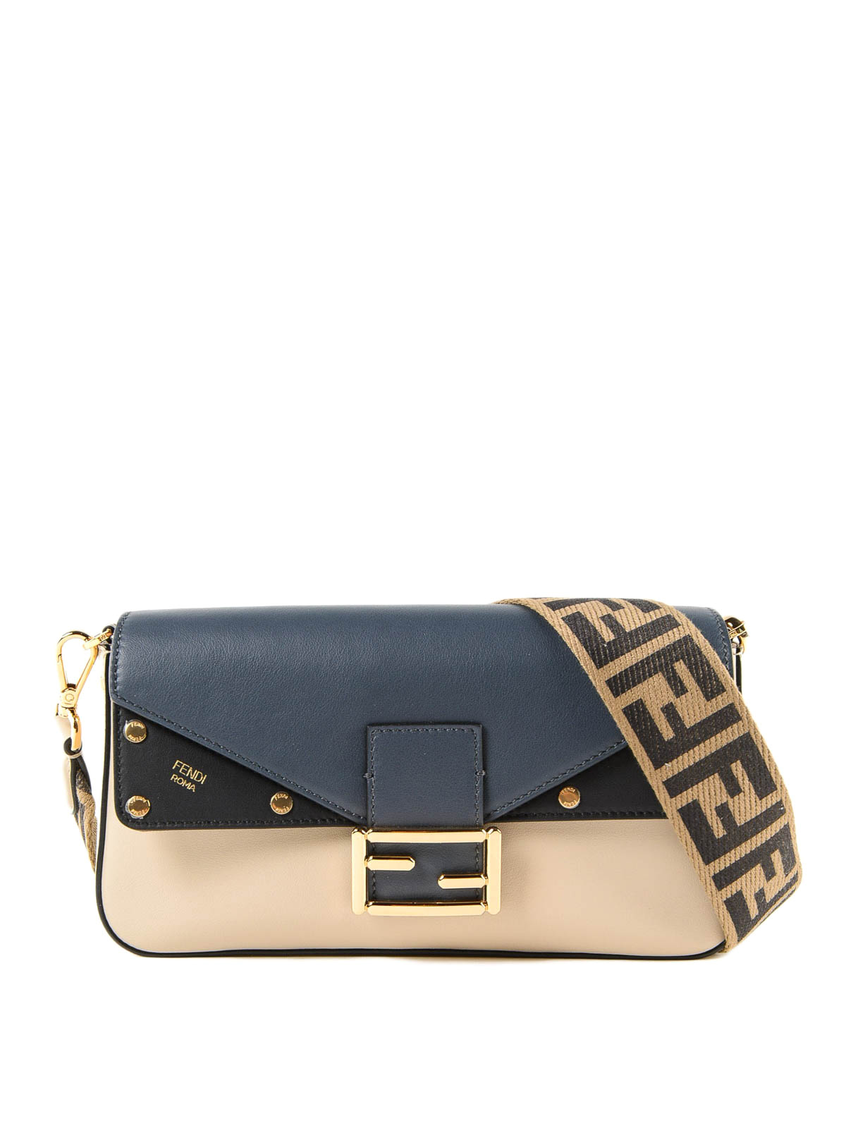 8a5abc318fdb Fendi - Baguette logomania strap multicolour bag - cross body bags ...