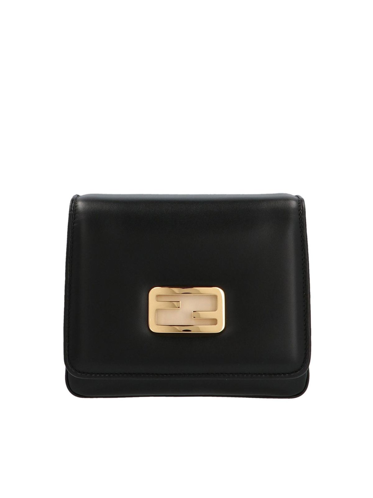 Fendi ID SMALL CROSSBODY BAG IN BLACK