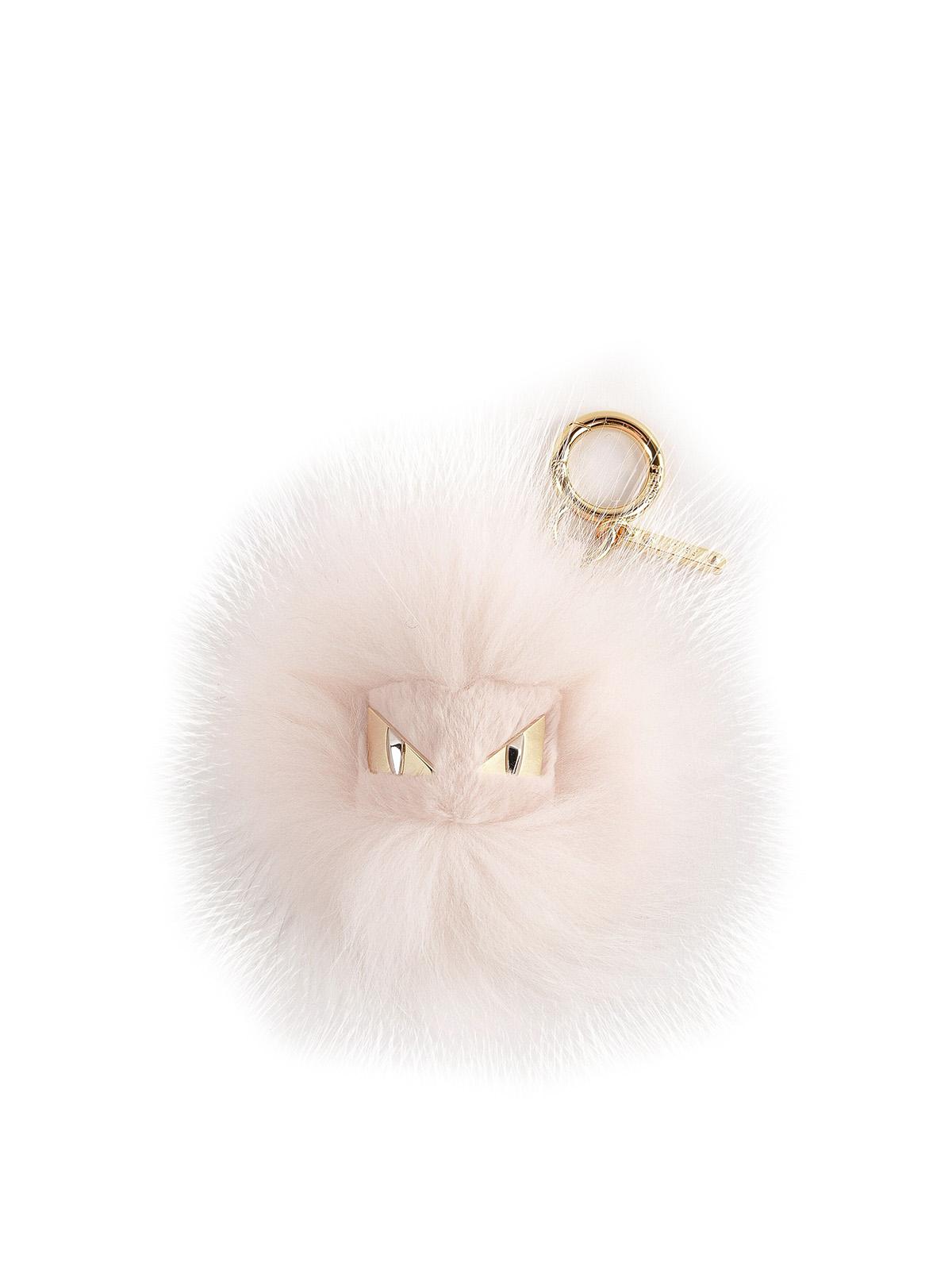 303ddaac49 Fendi - Pink dyed real fur charm bag Bugs - key holders ...