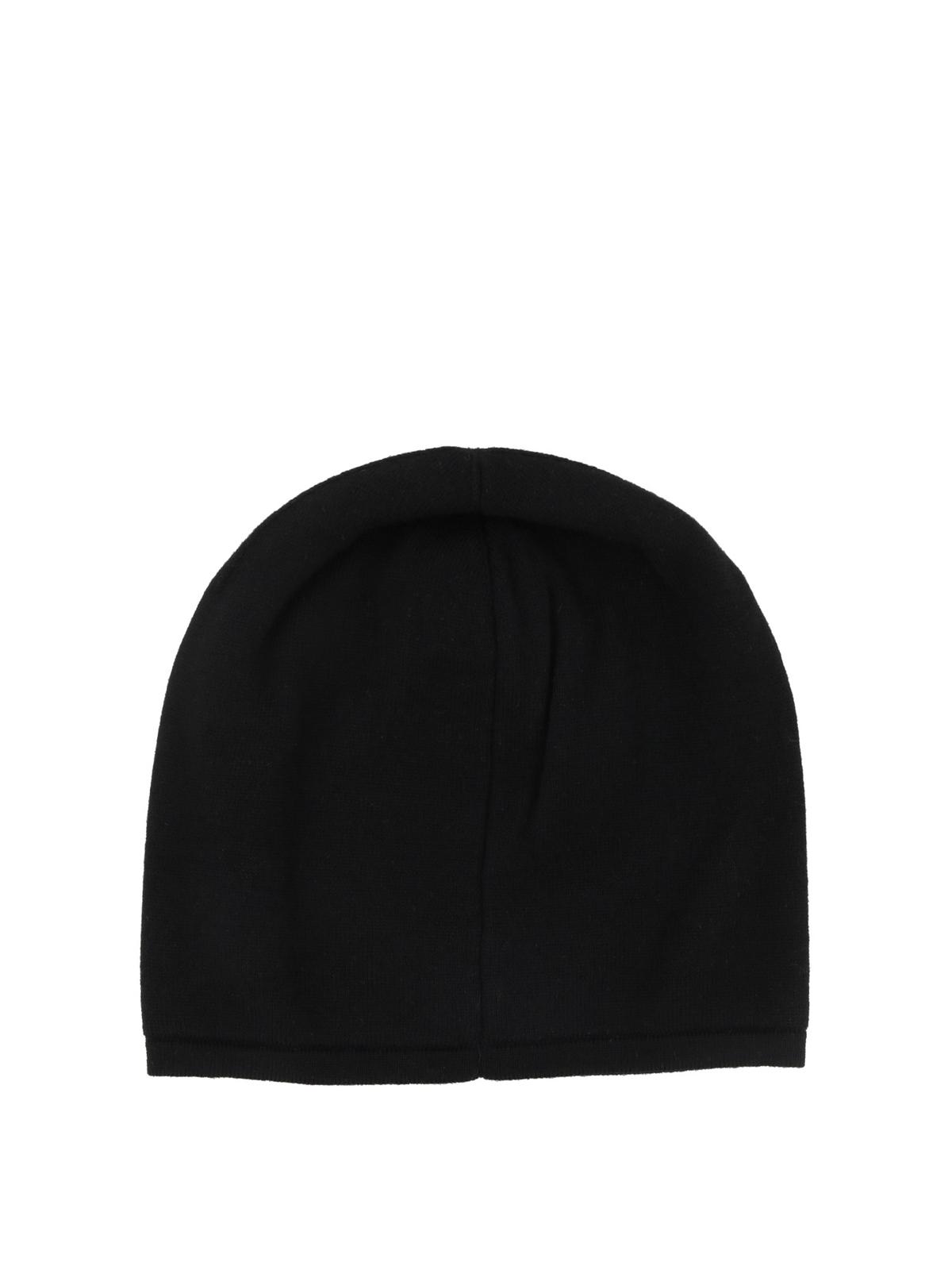 Fendi - Wool beanie with leather Bag Bugs - beanies - FXQ0532W0F0QA1 82c0a0d08a2