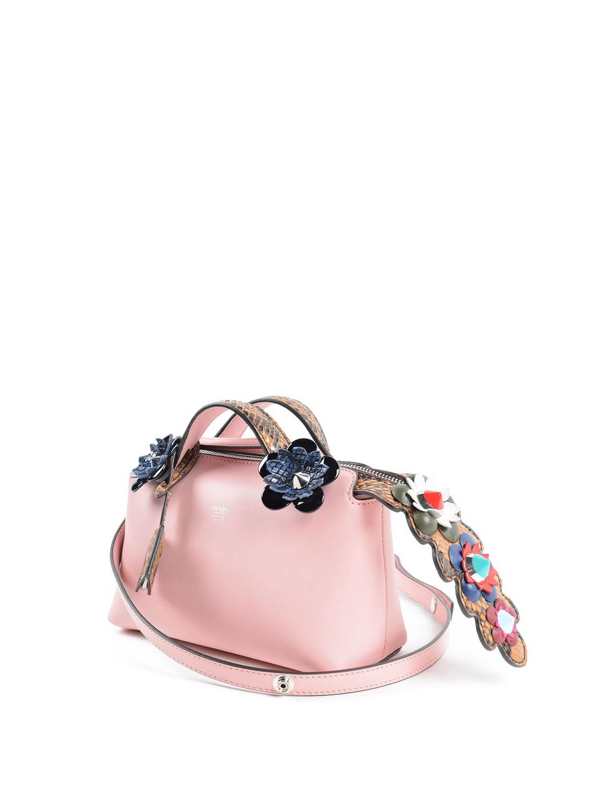 2ddd8b256668 Fendi - By The Way mini bag with flowers - bowling bags - 8BL135.7VX 2KT