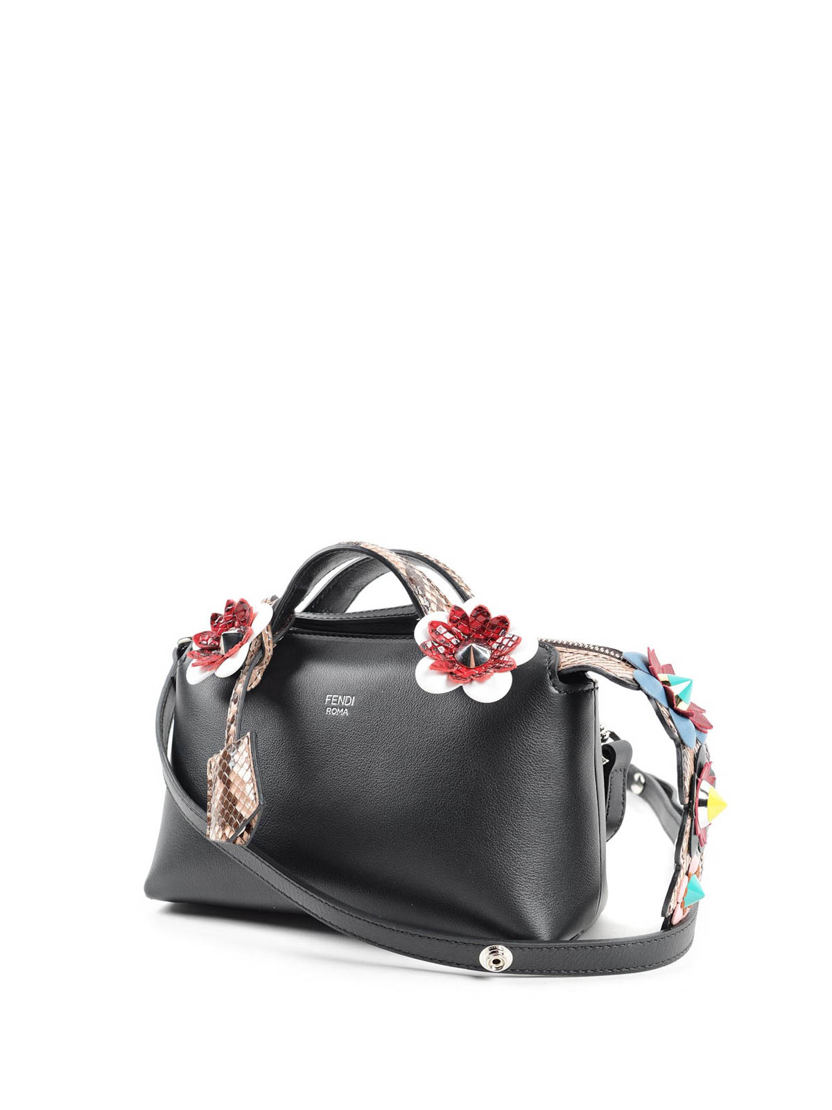 cd2c08b298 Fendi - By The Way mini bag with flowers - bowling bags - 8BL135.7VX 2LU