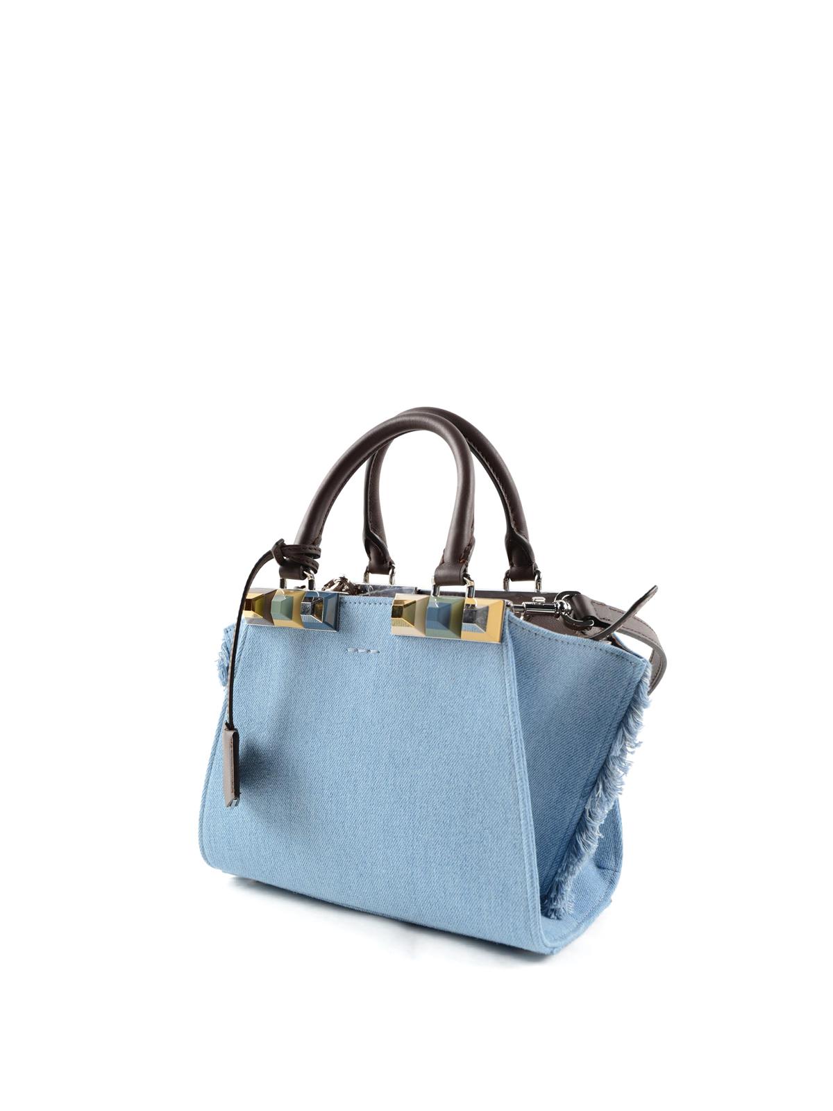 676d43f0a3 Fendi - Mini 3 Jours denim bag - bowling bags - 8BH333SVH7HC