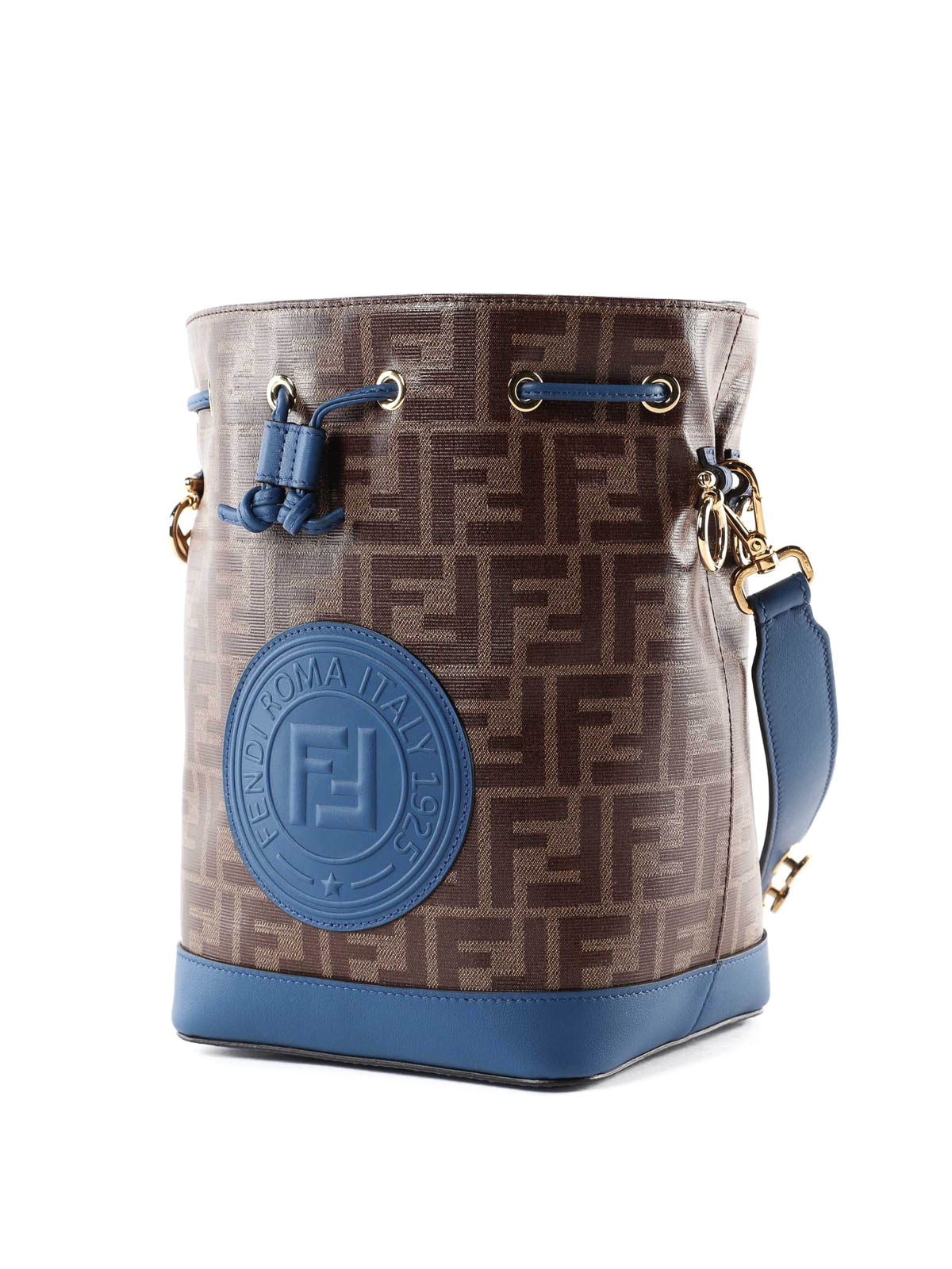 d2621cb6ffe5 FENDI  Bucket bags online - Mon Tresor S coated canvas blue bucket bag