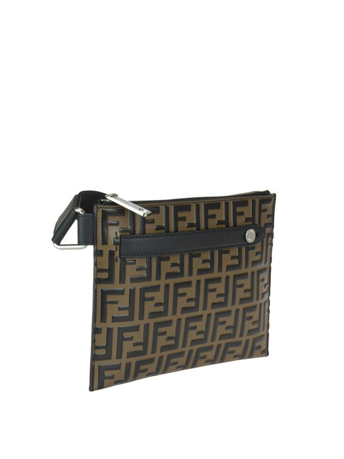 4798bd81 Fendi - FF Logo smooth leather bag - cross body bags - 7VA437A4K5F0H3C