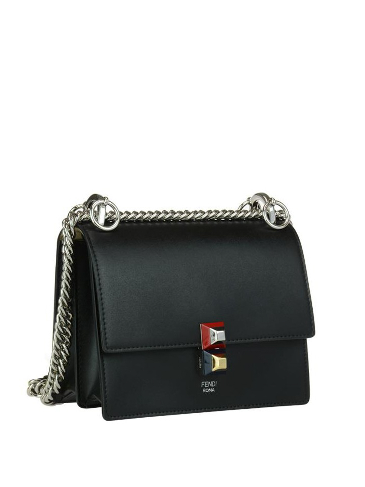 0fd02a88f89a FENDI  cross body bags online - Kan I small black leather bag
