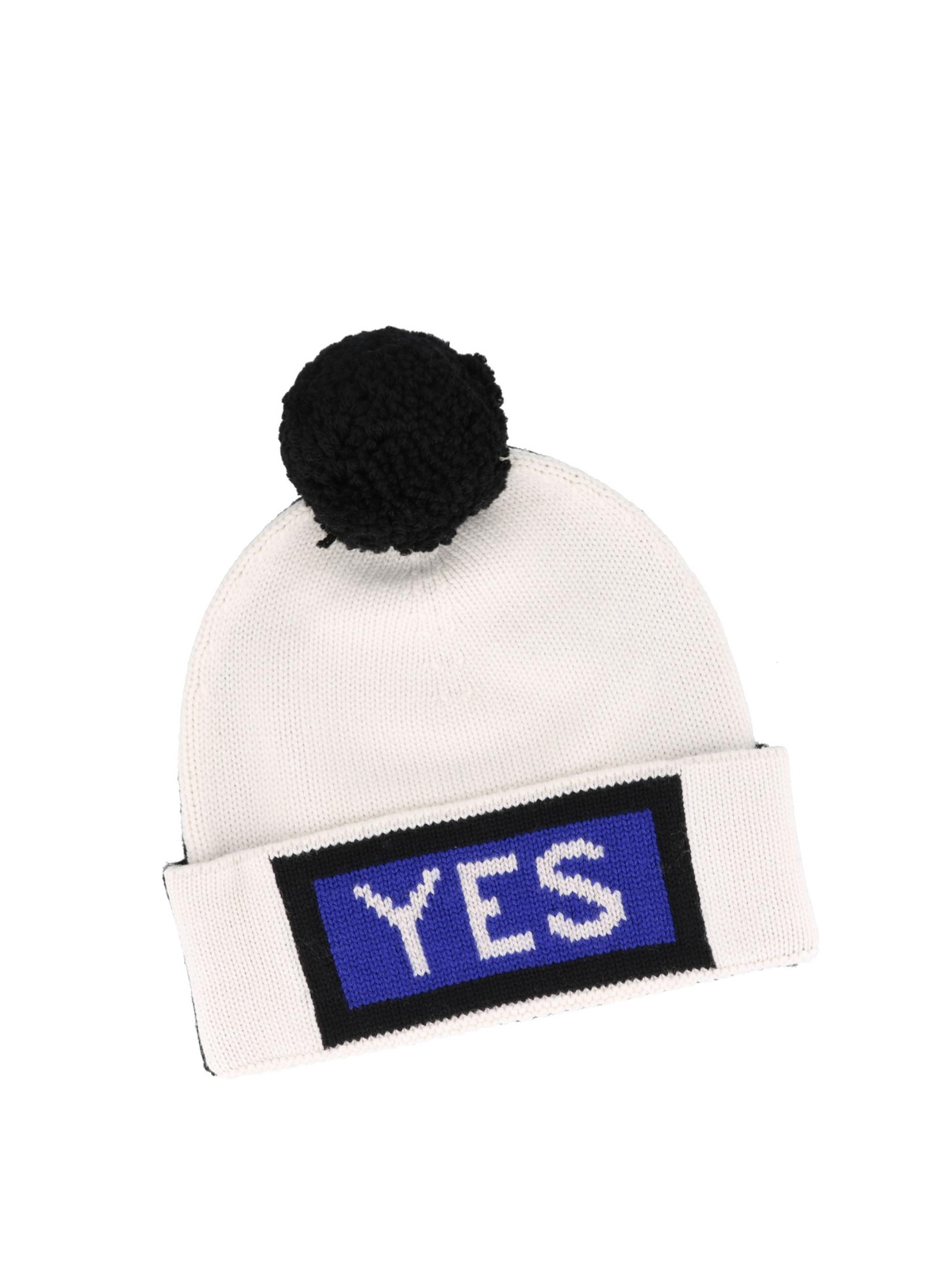 FENDI  hats   caps online - Wool beanie with knitted Fendi logo f68d54538b5d