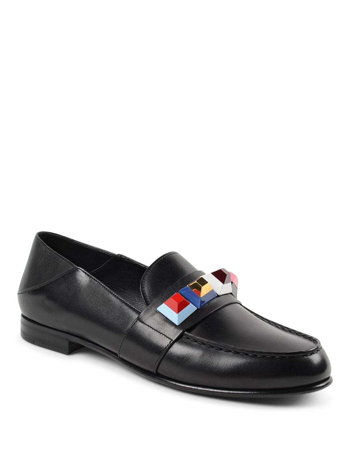 0bce965404e Fendi online loafers slippers shearling and leather loafers jpg 1200x1600 Fendi  loafers