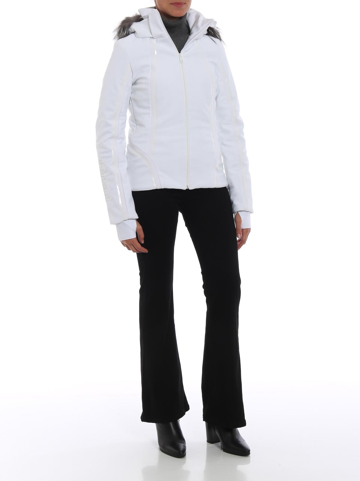 FENDI  padded jackets online - Hi-tech ski jacket with fox fur inserts 353e661cc