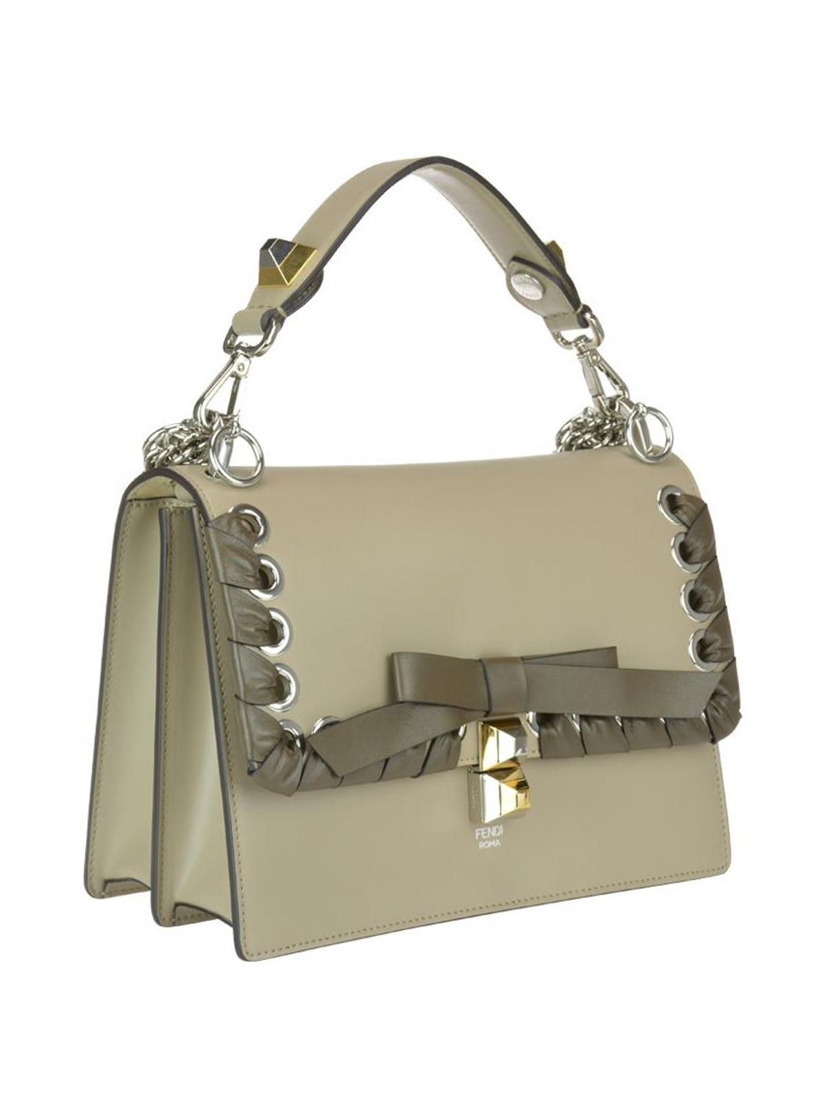 e55f9e6a285d FENDI  shoulder bags online - Kan I beige leather bag with bow