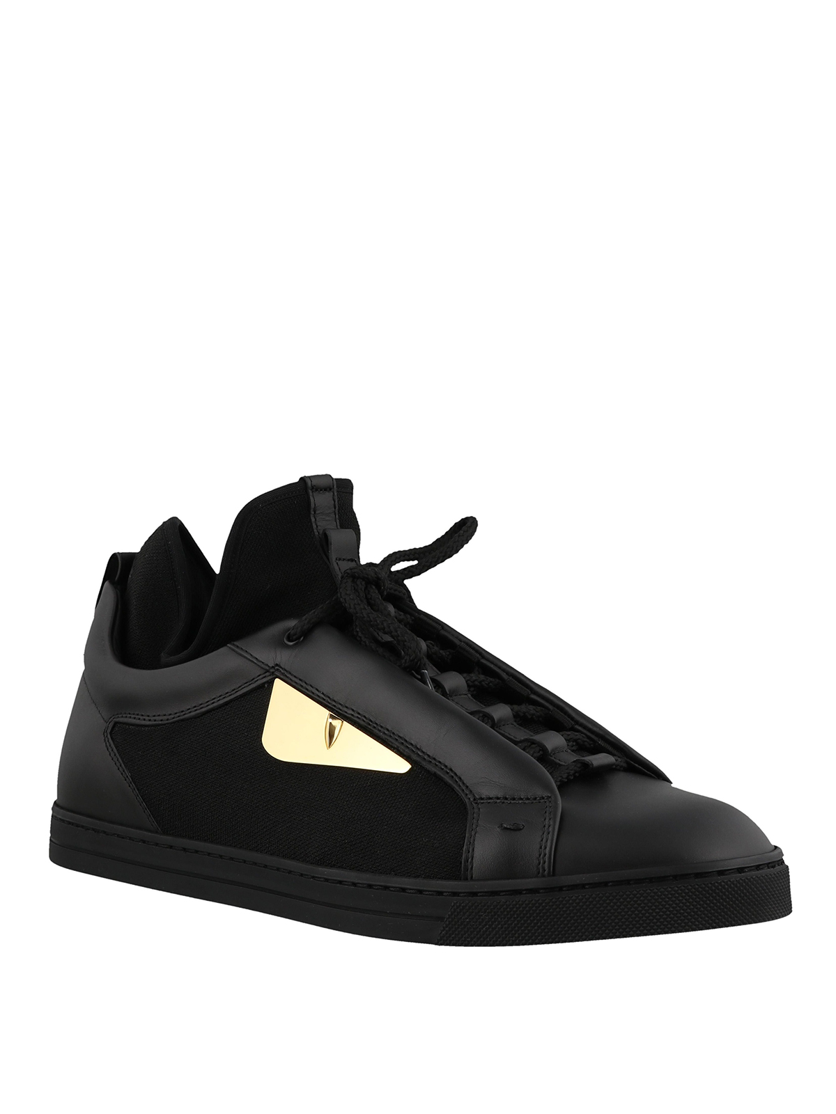 3ce9890dba FENDI  trainers online - Bag Bugs leather and knit fabric sneakers