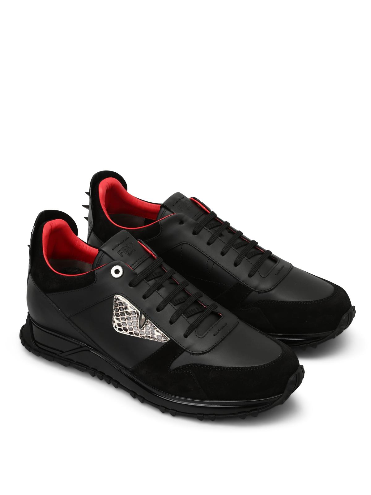 Fendi - Bag Bugs leather sneakers - trainers - 7E093692E F06BP ... 8b5bc086661